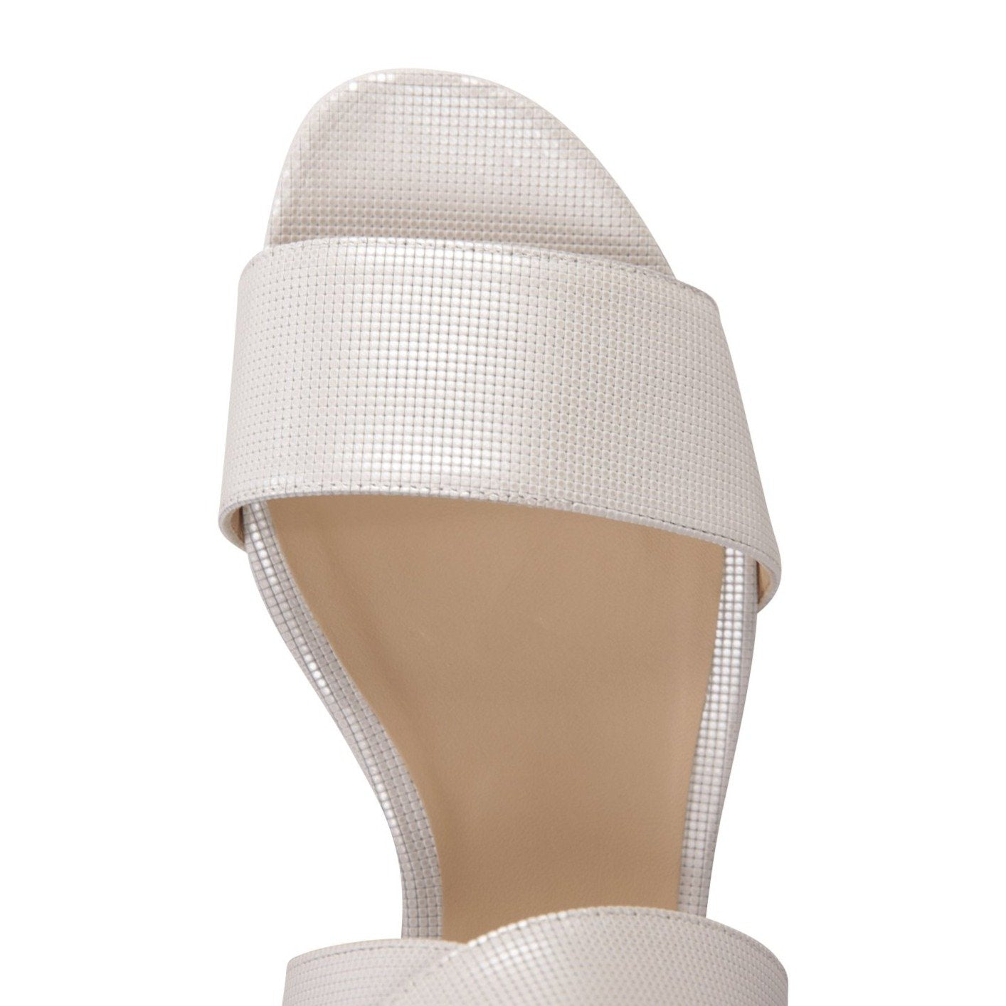 LUCCA - Pixel Bianco, VIAJIYU - Women's Hand Made Sustainable Luxury Shoes. Made in Italy. Made to Order.