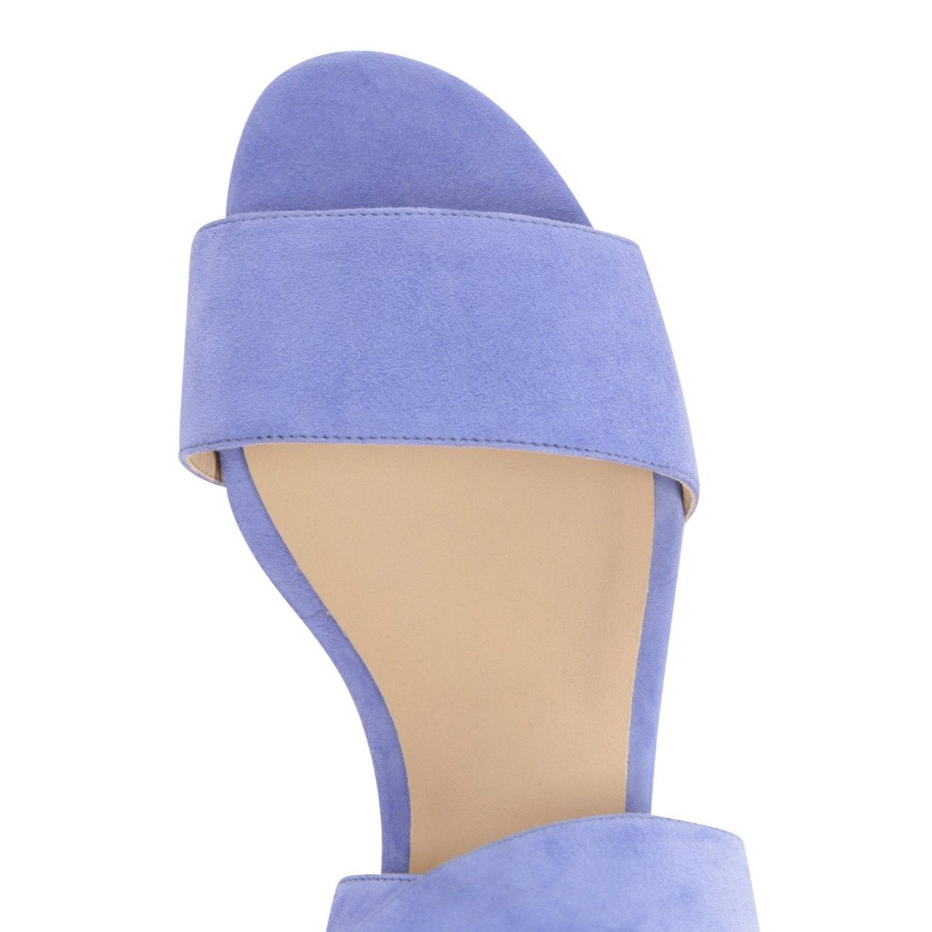 LUCCA - Velukid Blue Dusk, VIAJIYU - Women's Hand Made Sustainable Luxury Shoes. Made in Italy. Made to Order.