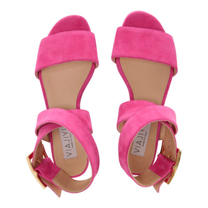 LUCCA - Velukid Epiphany Pink, VIAJIYU - Women's Hand Made Sustainable Luxury Shoes. Made in Italy. Made to Order.