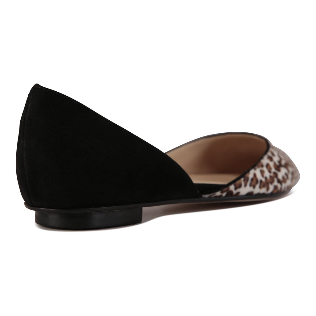 PONZA - Velukid Nero + Calf Hair Dune Minipard, VIAJIYU - Women's Hand Made Sustainable Luxury Shoes. Made in Italy. Made to Order.