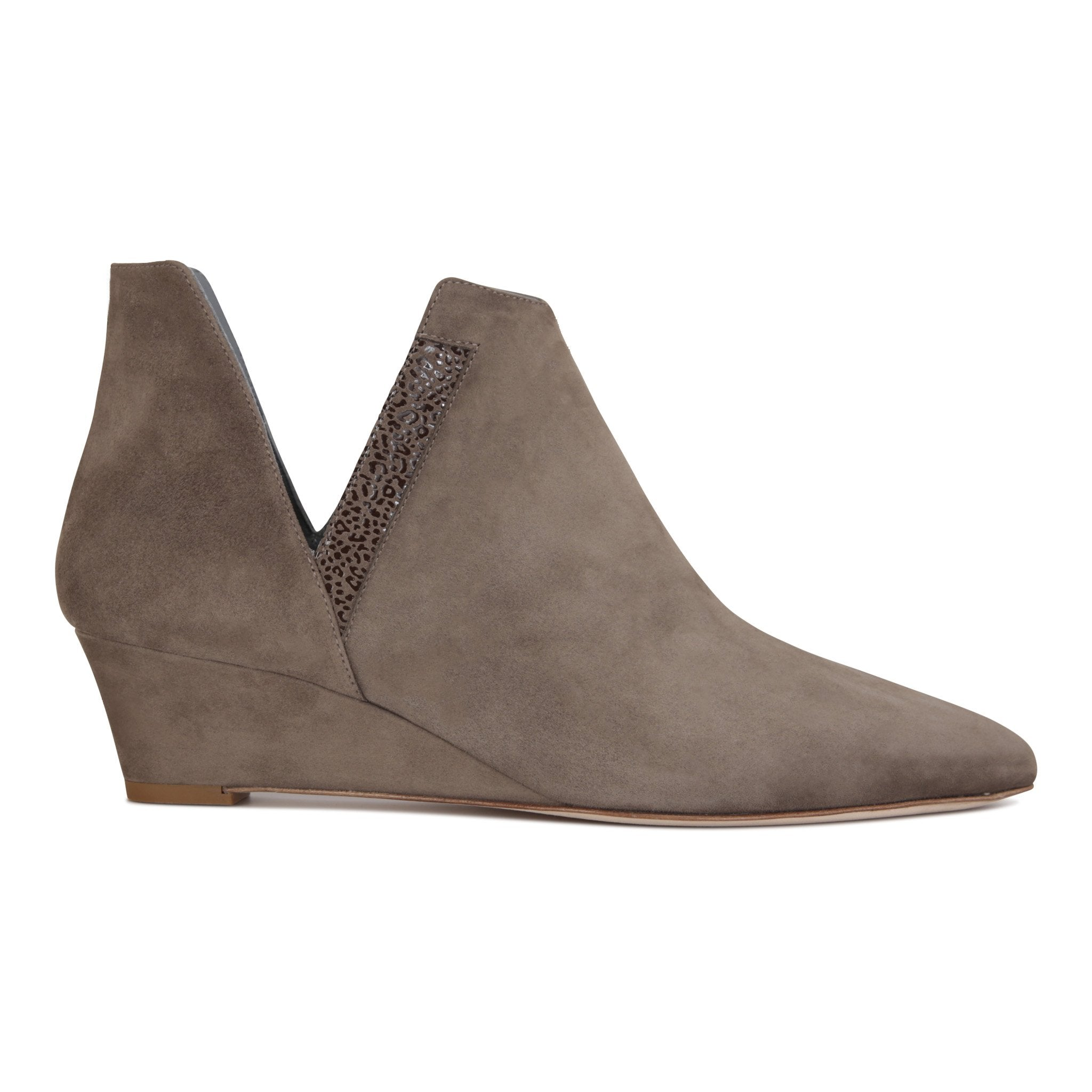SYRENE - Velukid + Savannah Taupe, VIAJIYU - Women's Hand Made Sustainable Luxury Shoes. Made in Italy. Made to Order.