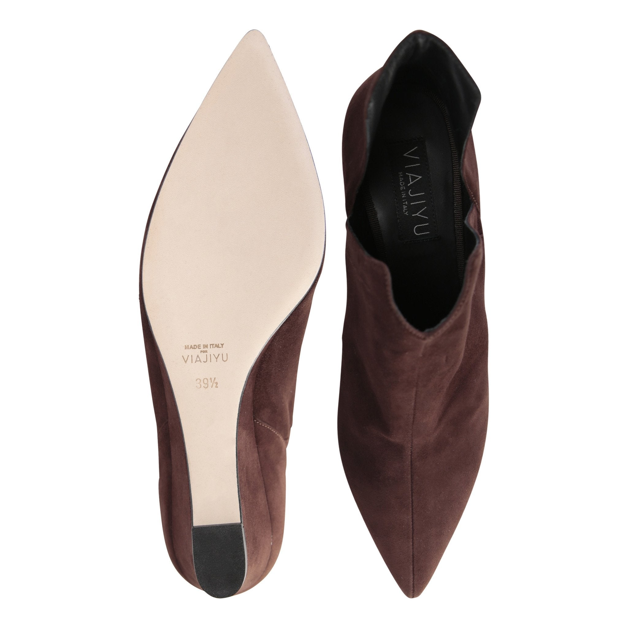 SYRENE - Velukid Espresso, VIAJIYU - Women's Hand Made Sustainable Luxury Shoes. Made in Italy. Made to Order.