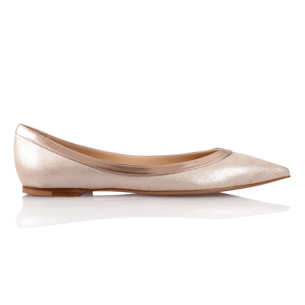 MILANO - Burma Platino + Metallic Copper, VIAJIYU - Women's Hand Made Sustainable Luxury Shoes. Made in Italy. Made to Order.