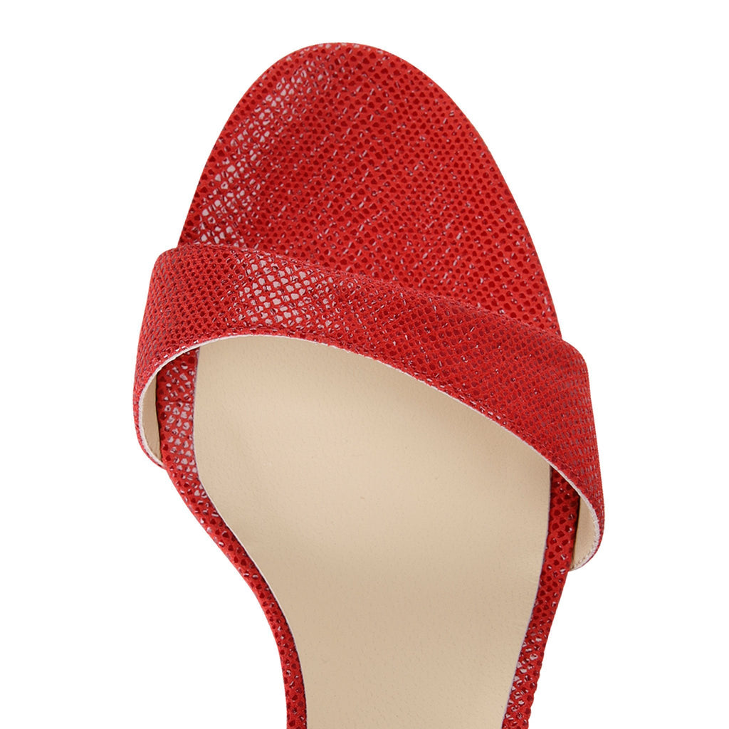 MODENA - Karung Rosso, VIAJIYU - Women's Hand Made Sustainable Luxury Shoes. Made in Italy. Made to Order.