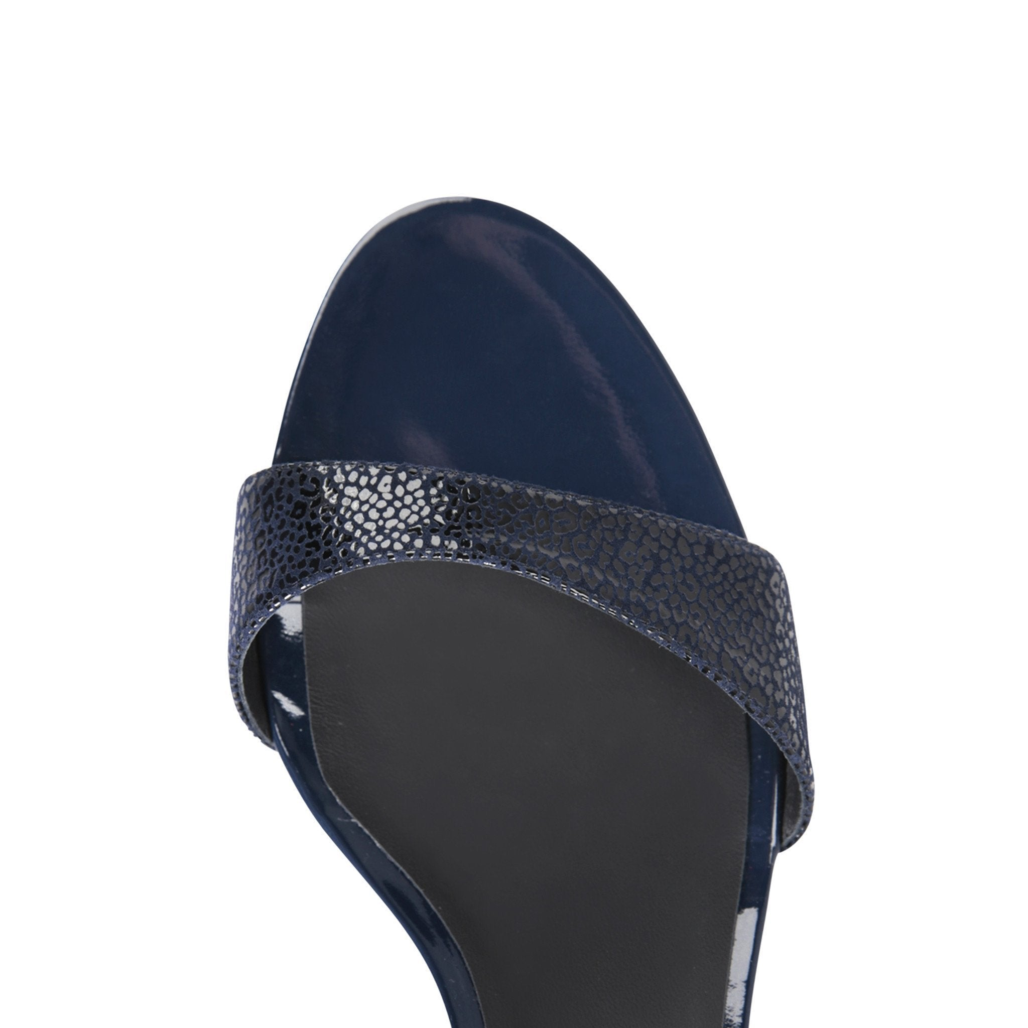 MODENA - Savannah + Patent Midnight, VIAJIYU - Women's Hand Made Sustainable Luxury Shoes. Made in Italy. Made to Order.