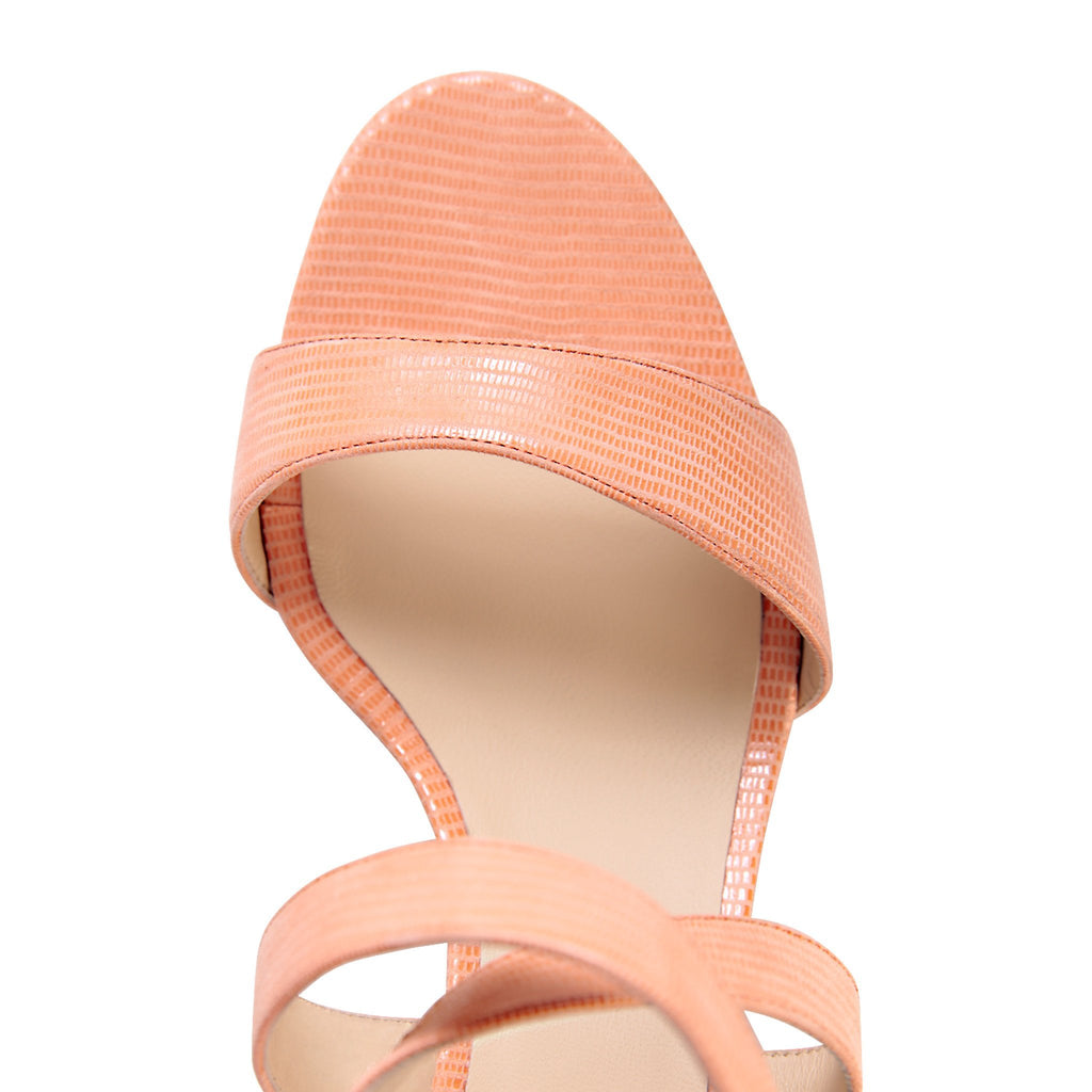 MODENA - Varanus Rosy Cheeks + Midnight, VIAJIYU - Women's Hand Made Sustainable Luxury Shoes. Made in Italy. Made to Order.