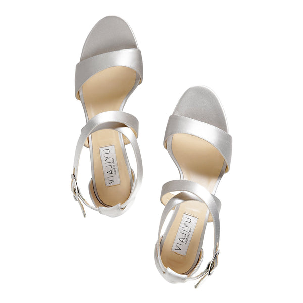 Modena (satin), VIAJIYU - Women's Hand Made Luxury Flat Shoes. Made in Italy. Made to Order. Design your own. Modena (Vegan)