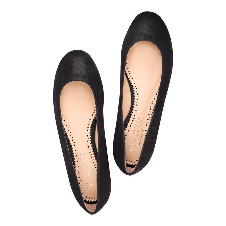 ROMA - Hydra Nero, VIAJIYU - Women's Hand Made Sustainable Luxury Shoes. Made in Italy. Made to Order.