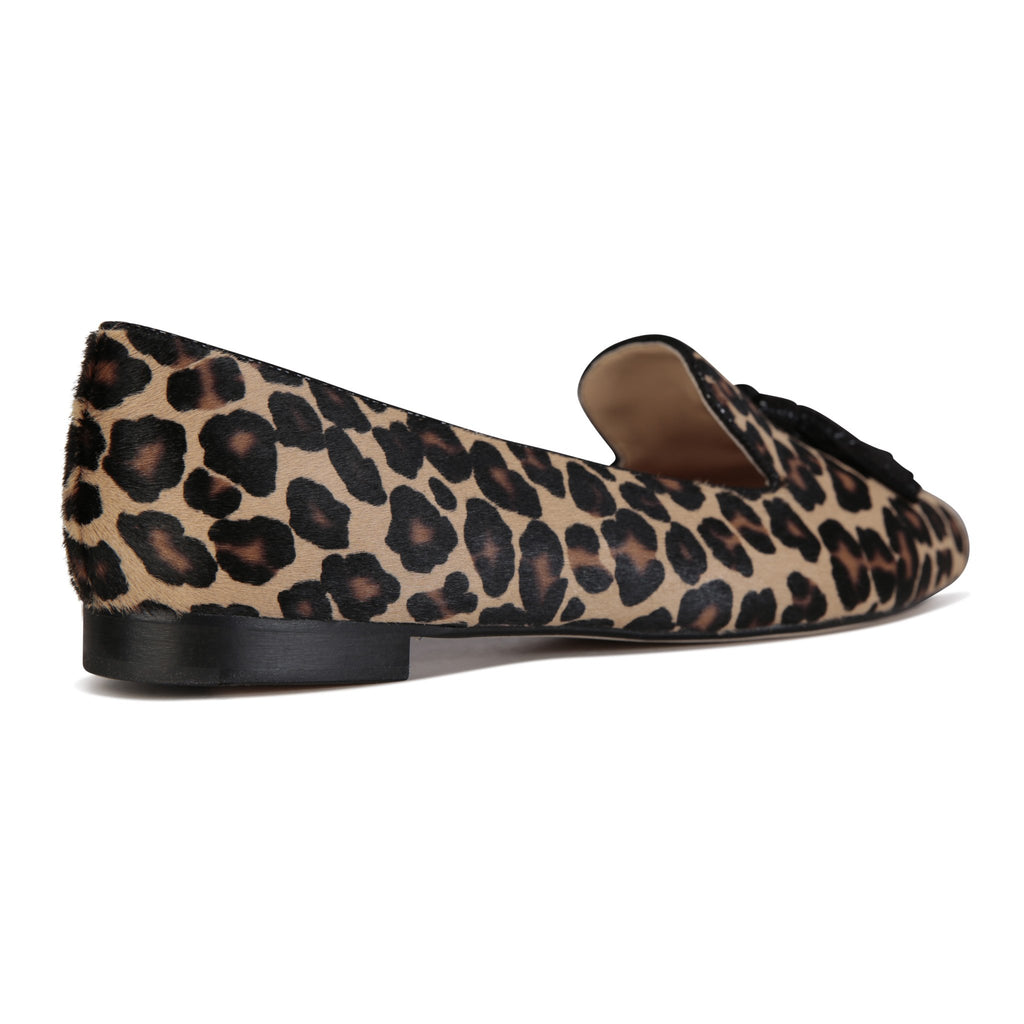 PARMA - Calf Hair Congo + Karung Nero, VIAJIYU - Women's Hand Made Sustainable Luxury Shoes. Made in Italy. Made to Order.