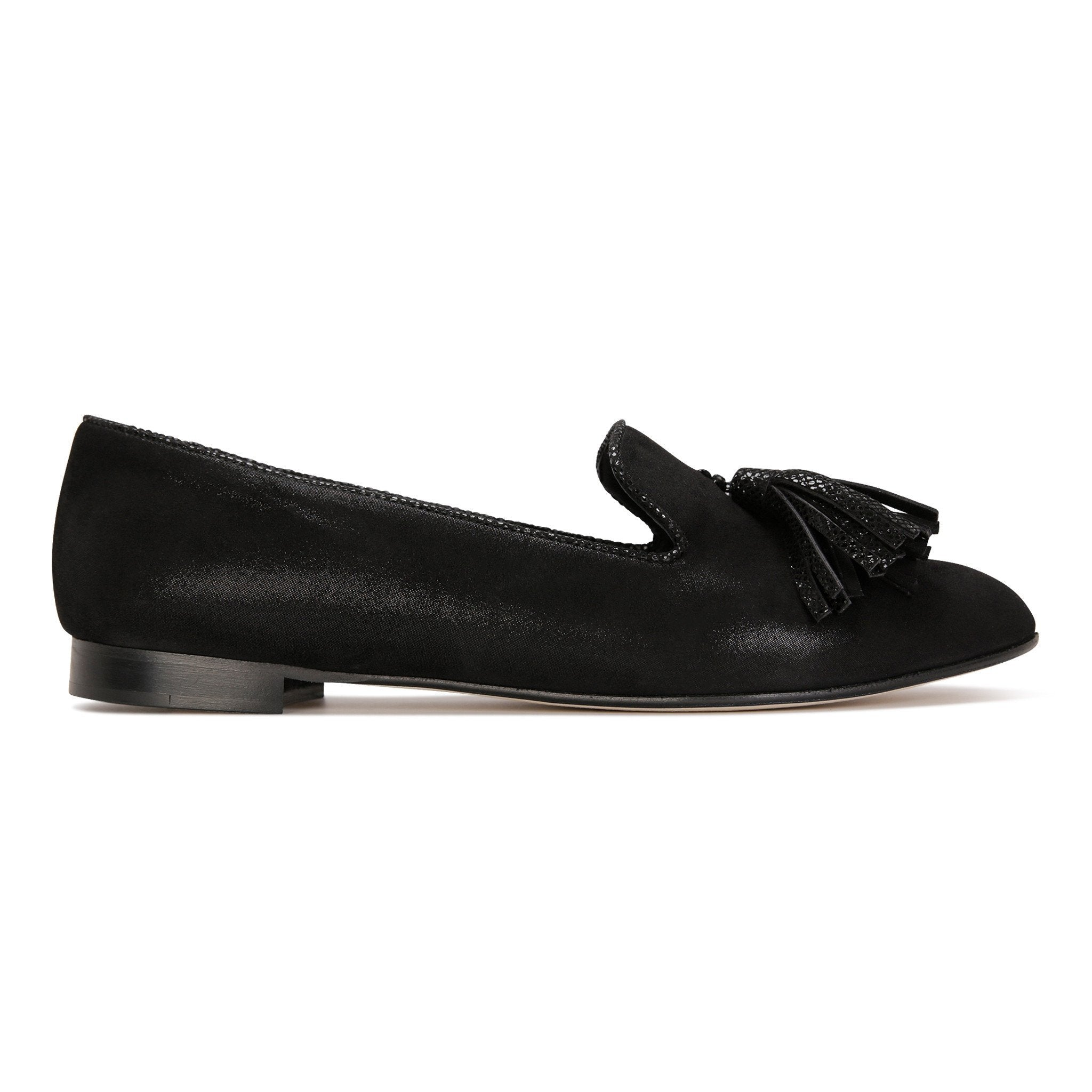 PARMA - Hydra Nero + Karung, VIAJIYU - Women's Hand Made Sustainable Luxury Shoes. Made in Italy. Made to Order.