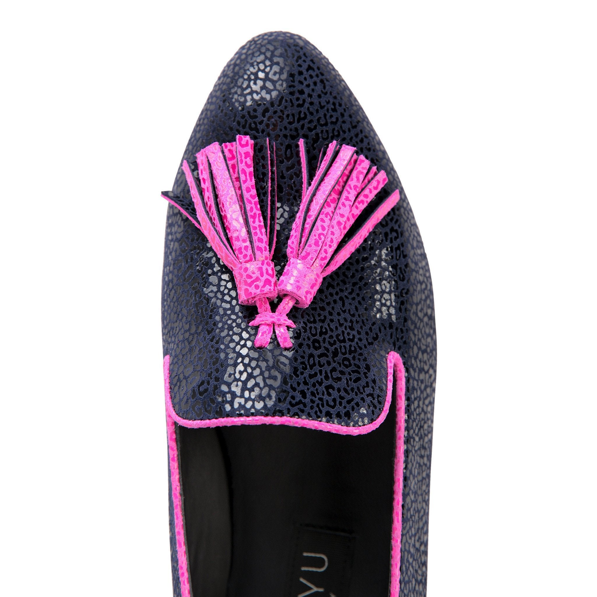 PARMA - Savannah Midnight + Mulberry, VIAJIYU - Women's Hand Made Sustainable Luxury Shoes. Made in Italy. Made to Order.