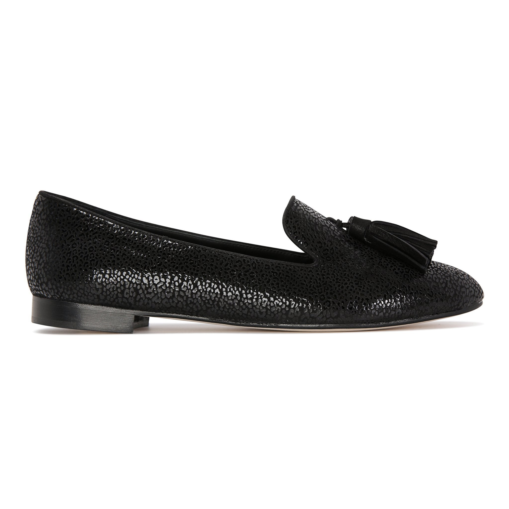 PARMA - Savannah Nero + Hydra, VIAJIYU - Women's Hand Made Sustainable Luxury Shoes. Made in Italy. Made to Order.