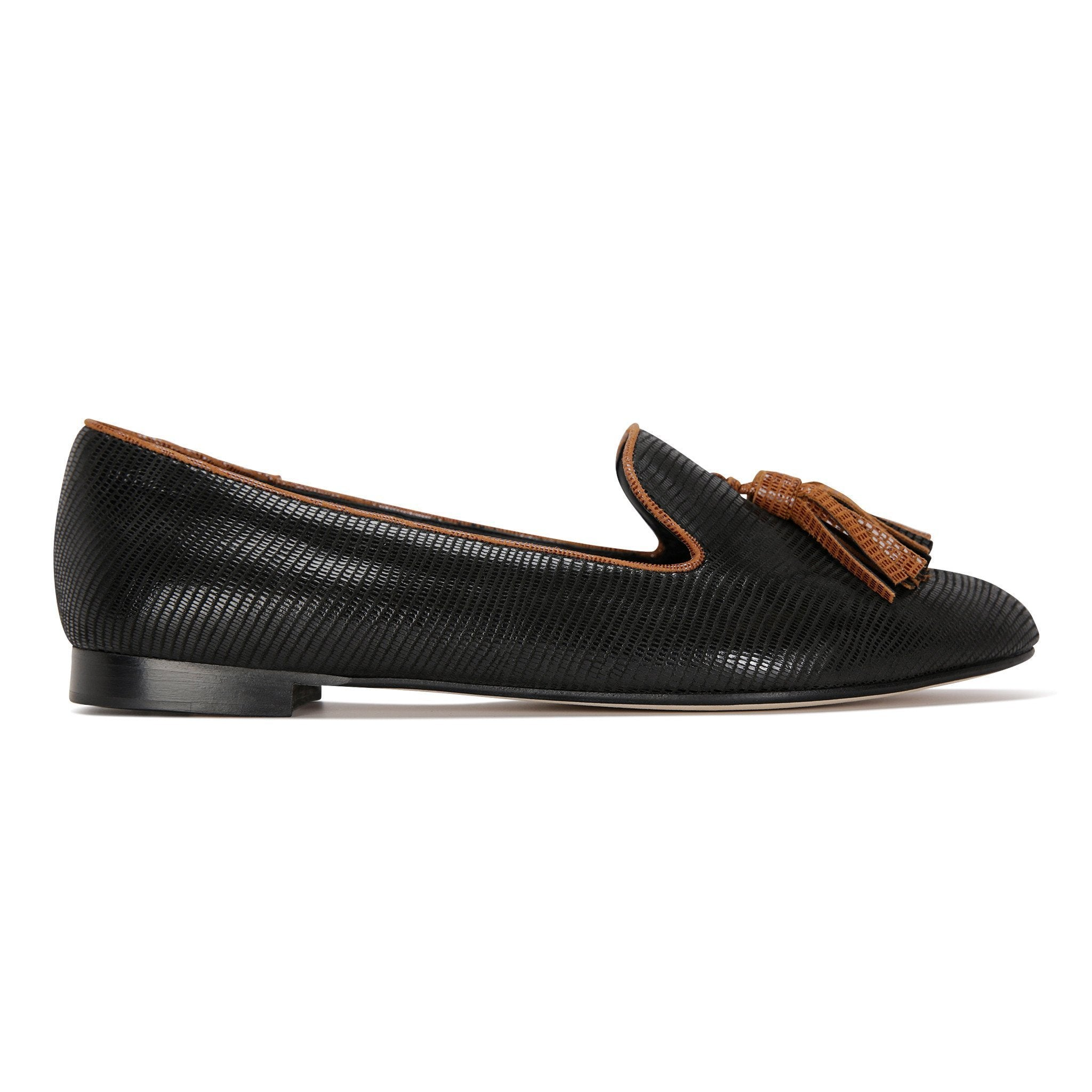 PARMA - Varanus Nero + Dune, VIAJIYU - Women's Hand Made Sustainable Luxury Shoes. Made in Italy. Made to Order.