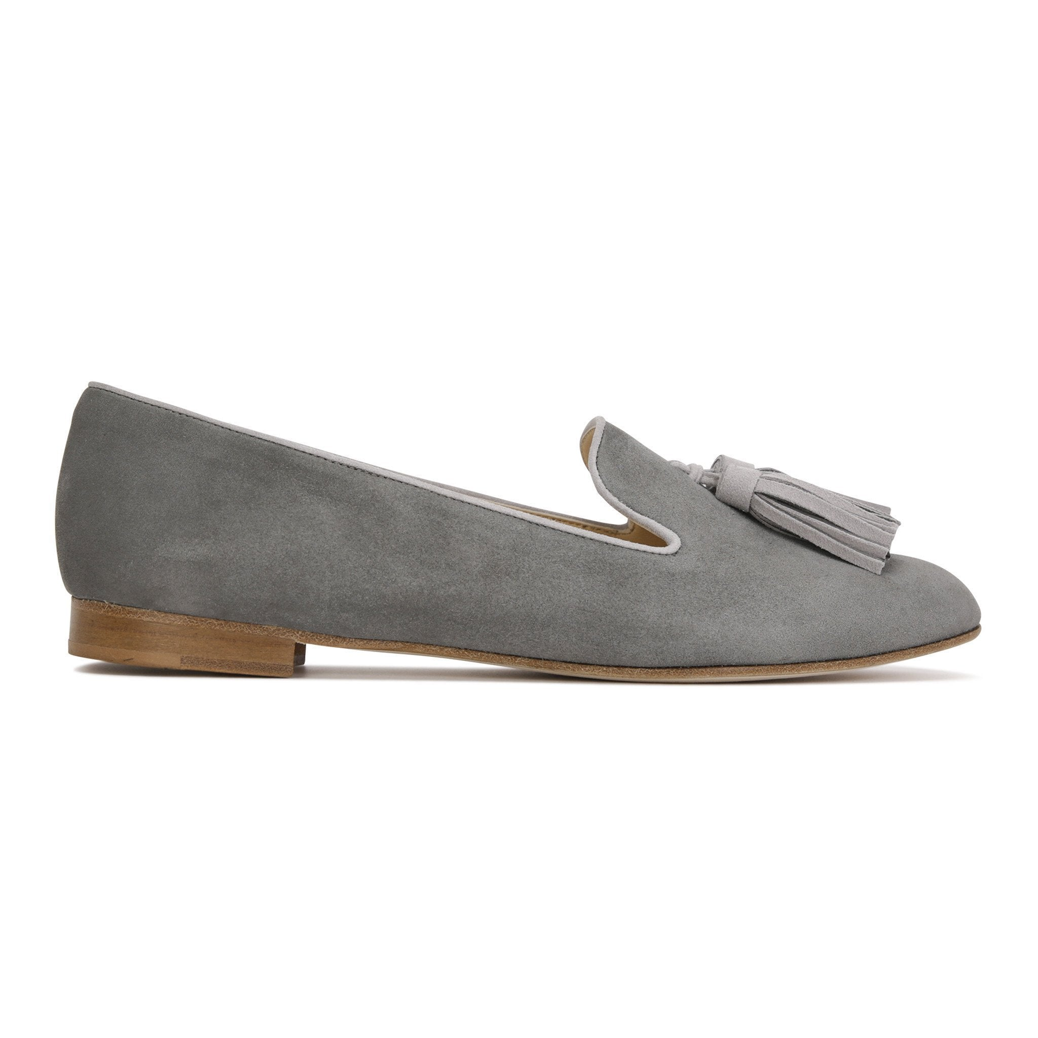 PARMA - Hydra Anthracite + Velukid Grigio, VIAJIYU - Women's Hand Made Sustainable Luxury Shoes. Made in Italy. Made to Order.