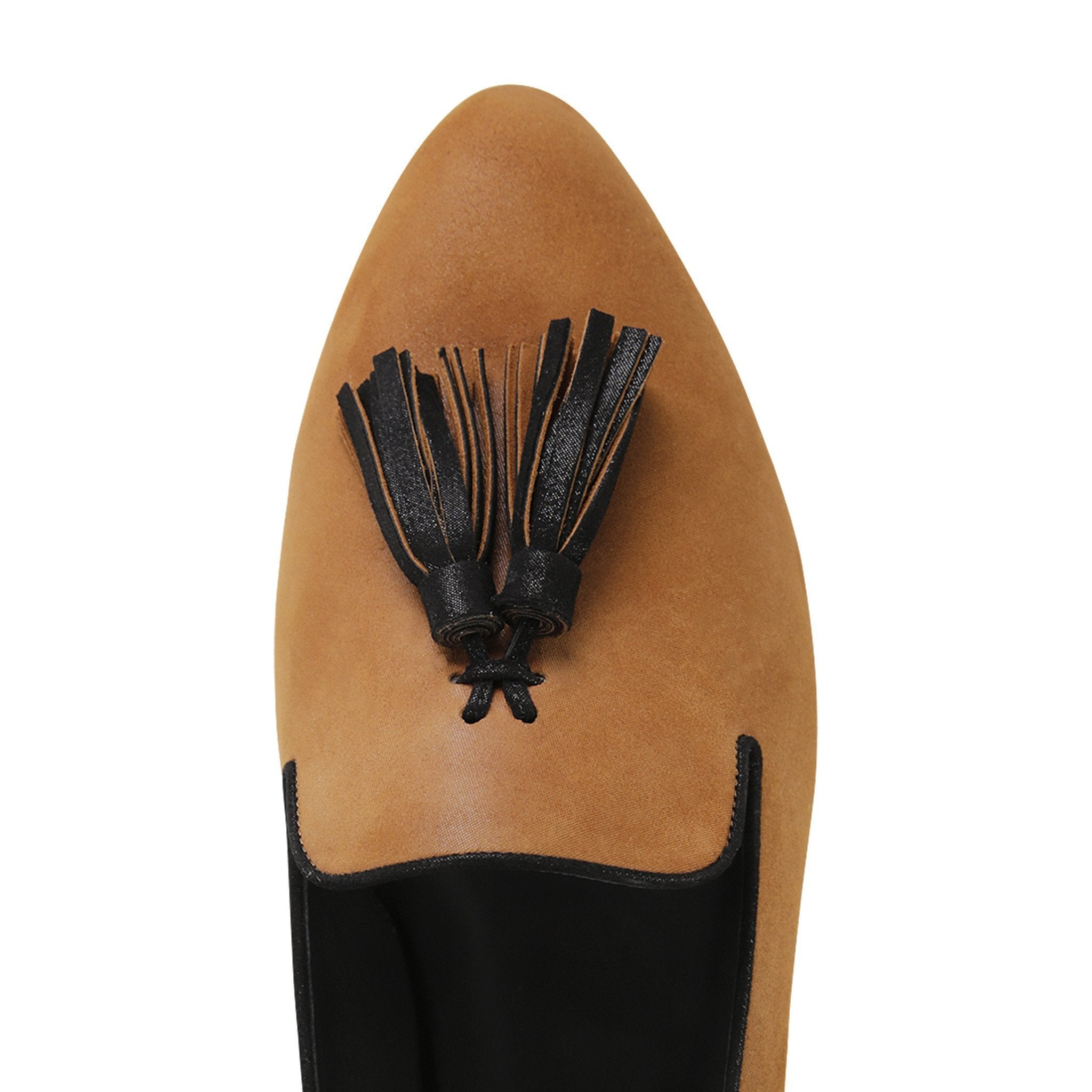 PARMA - Hydra Dune + Nero, VIAJIYU - Women's Hand Made Sustainable Luxury Shoes. Made in Italy. Made to Order.