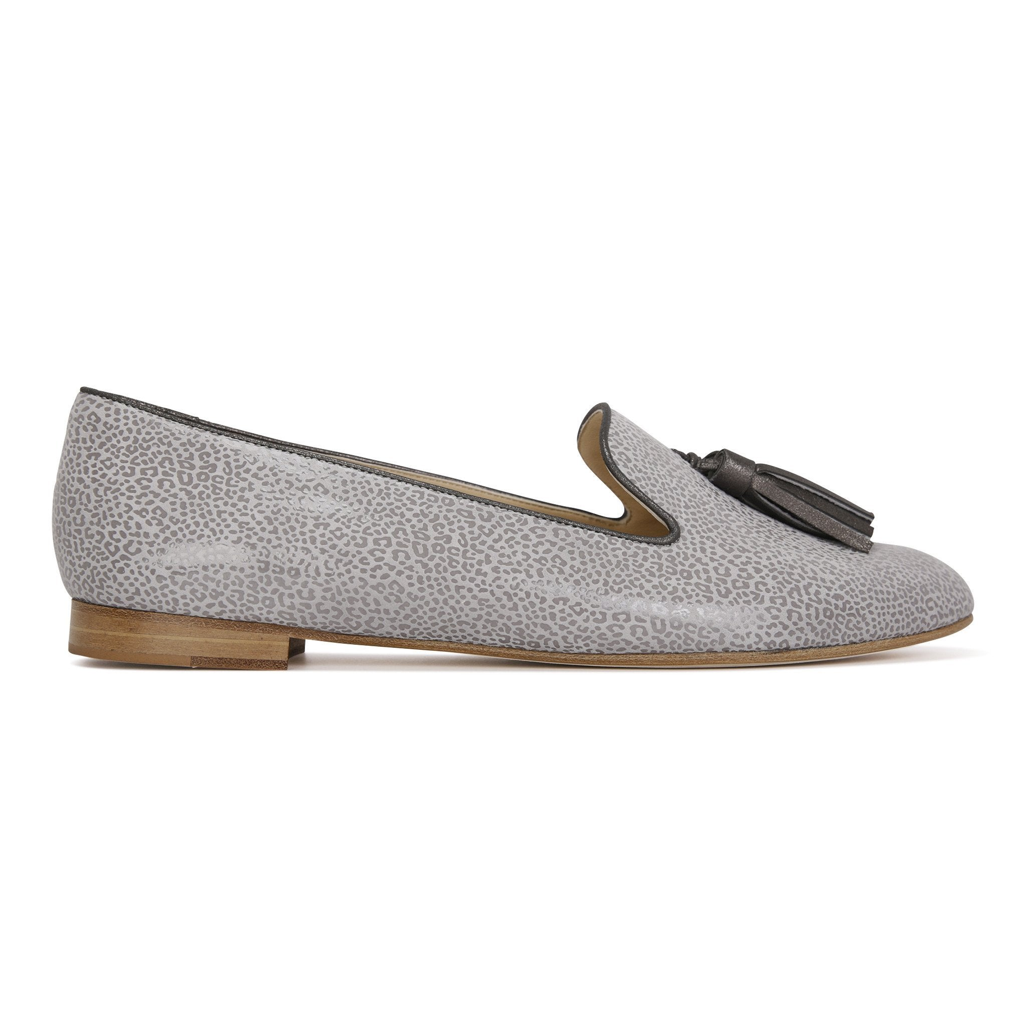 PARMA - Savannah Grigio + Burma Anthracite, VIAJIYU - Women's Hand Made Sustainable Luxury Shoes. Made in Italy. Made to Order.