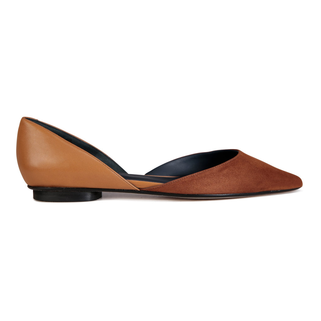 PONZA - Velukid Dune + Nappa Cuoio, VIAJIYU - Women's Hand Made Sustainable Luxury Shoes. Made in Italy. Made to Order.
