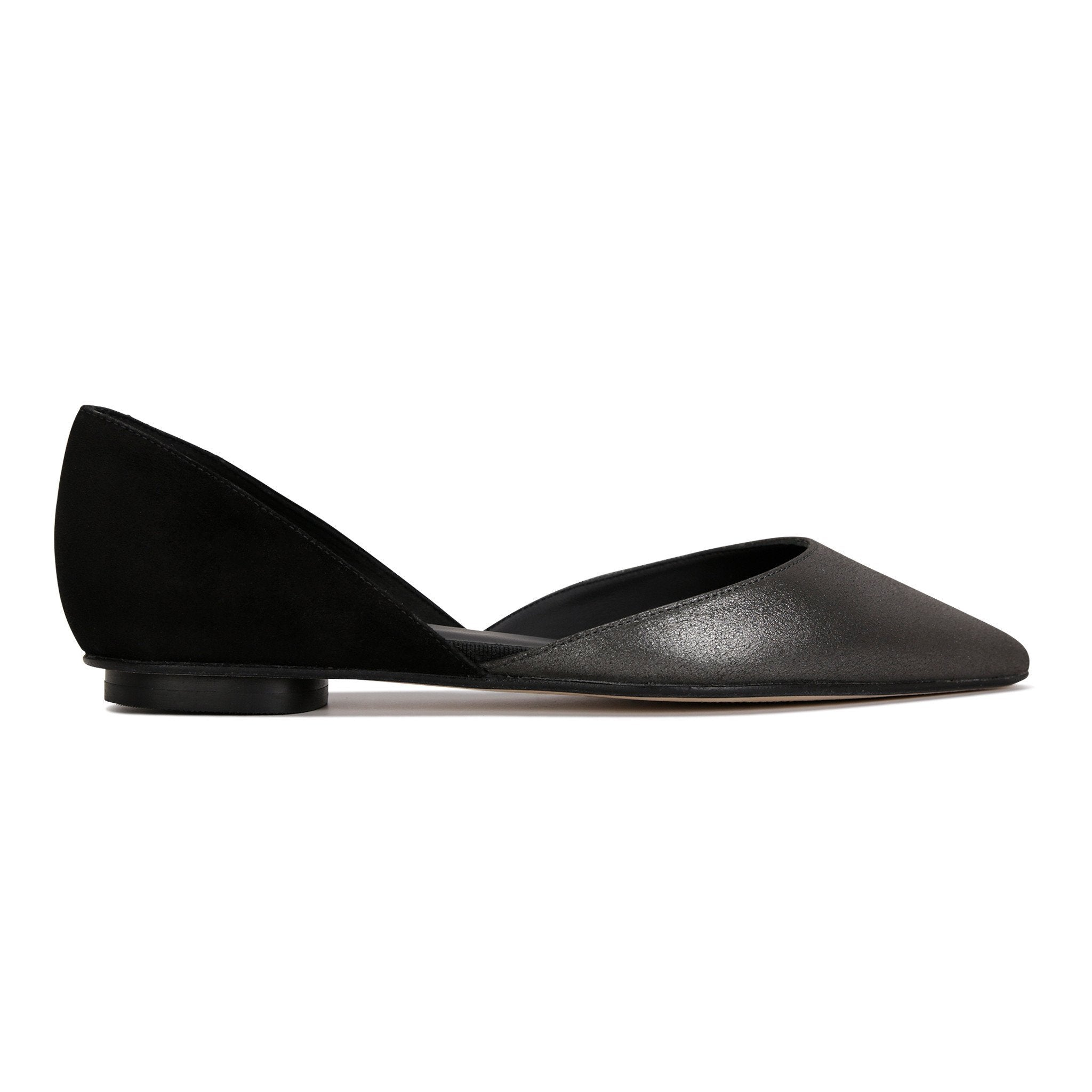 PONZA - Burma Anthracite + Velukid Nero, VIAJIYU - Women's Hand Made Sustainable Luxury Shoes. Made in Italy. Made to Order.
