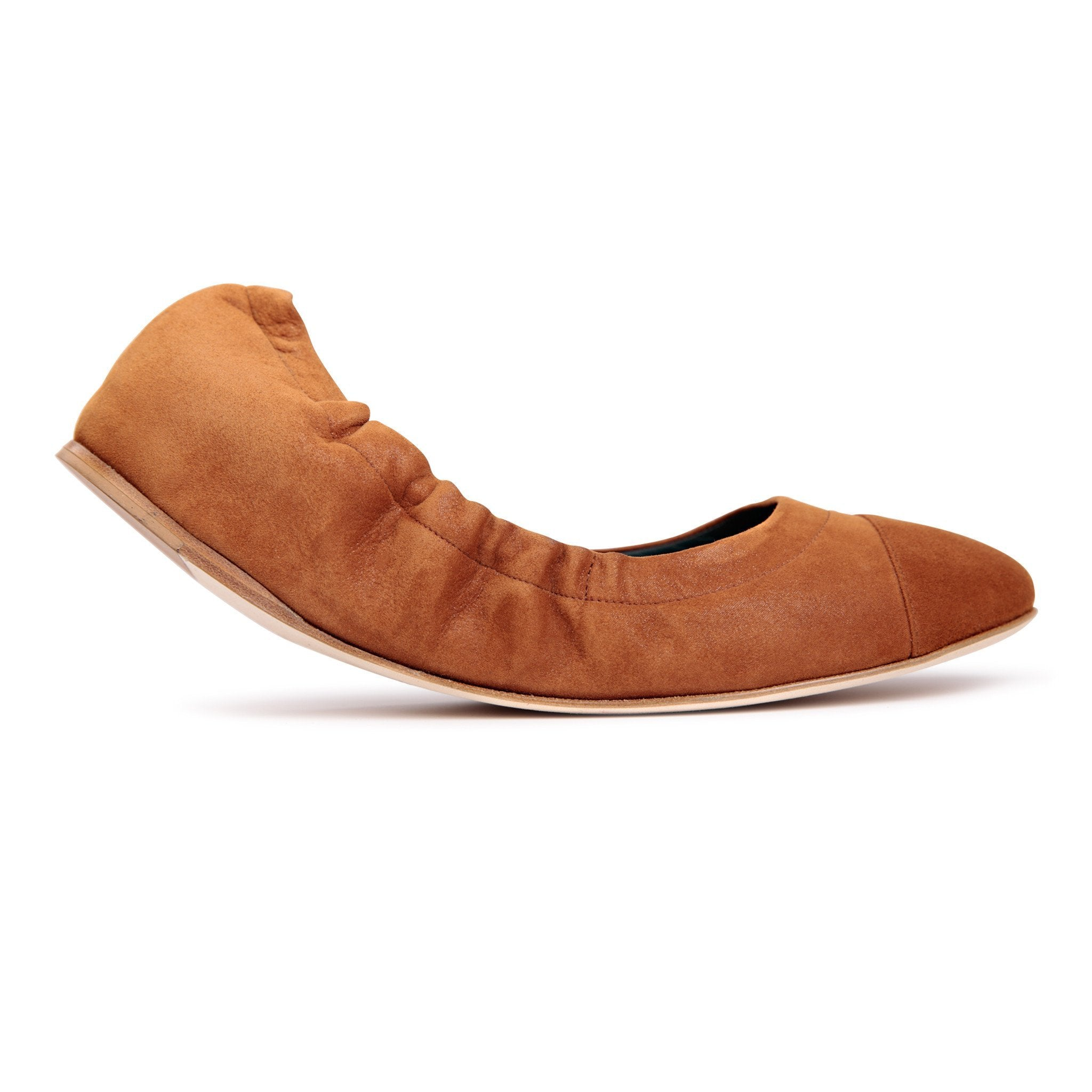 PORTOFINO - Velukid Dune + Matching Toe, VIAJIYU - Women's Hand Made Sustainable Luxury Shoes. Made in Italy. Made to Order.