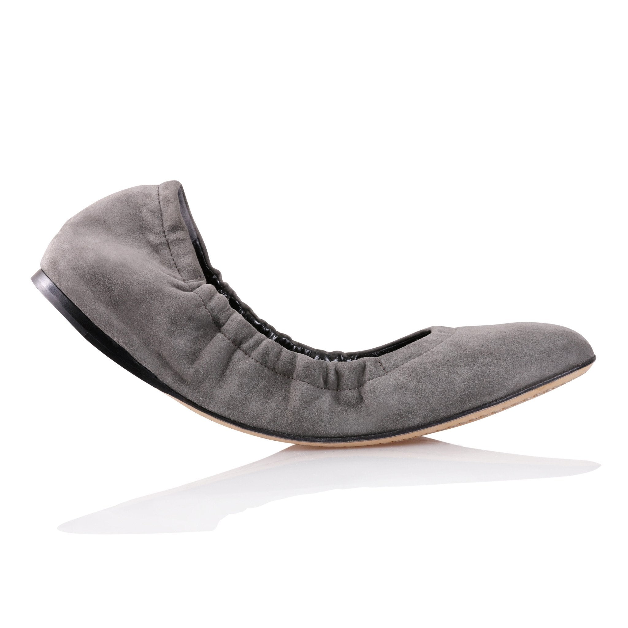 PORTOFINO - Velukid Anthracite, VIAJIYU - Women's Hand Made Sustainable Luxury Shoes. Made in Italy. Made to Order.
