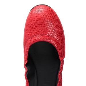 PORTOFINO - Karung Rosso, VIAJIYU - Women's Hand Made Sustainable Luxury Shoes. Made in Italy. Made to Order.