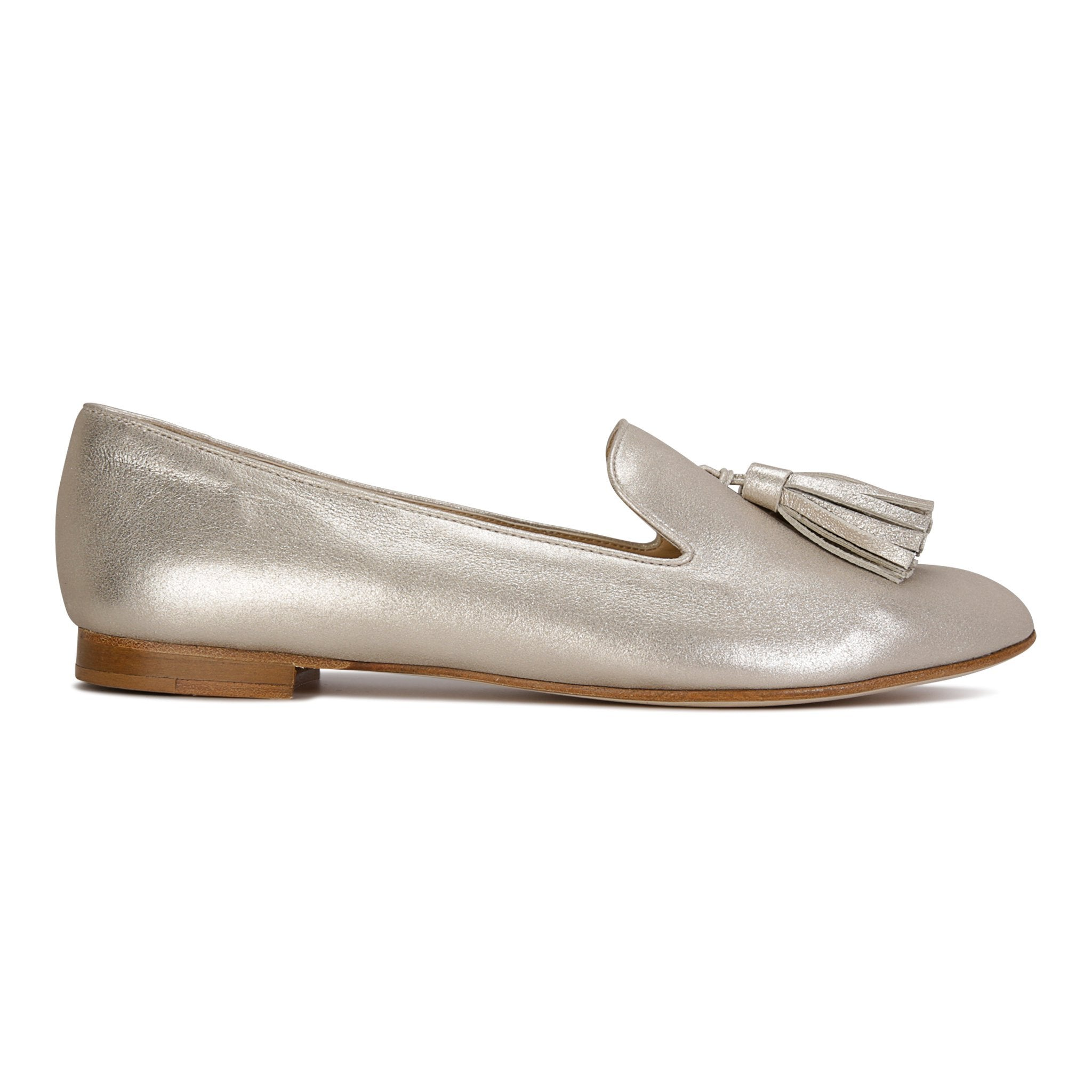PARMA - Burma Platino, VIAJIYU - Women's Hand Made Sustainable Luxury Shoes. Made in Italy. Made to Order.
