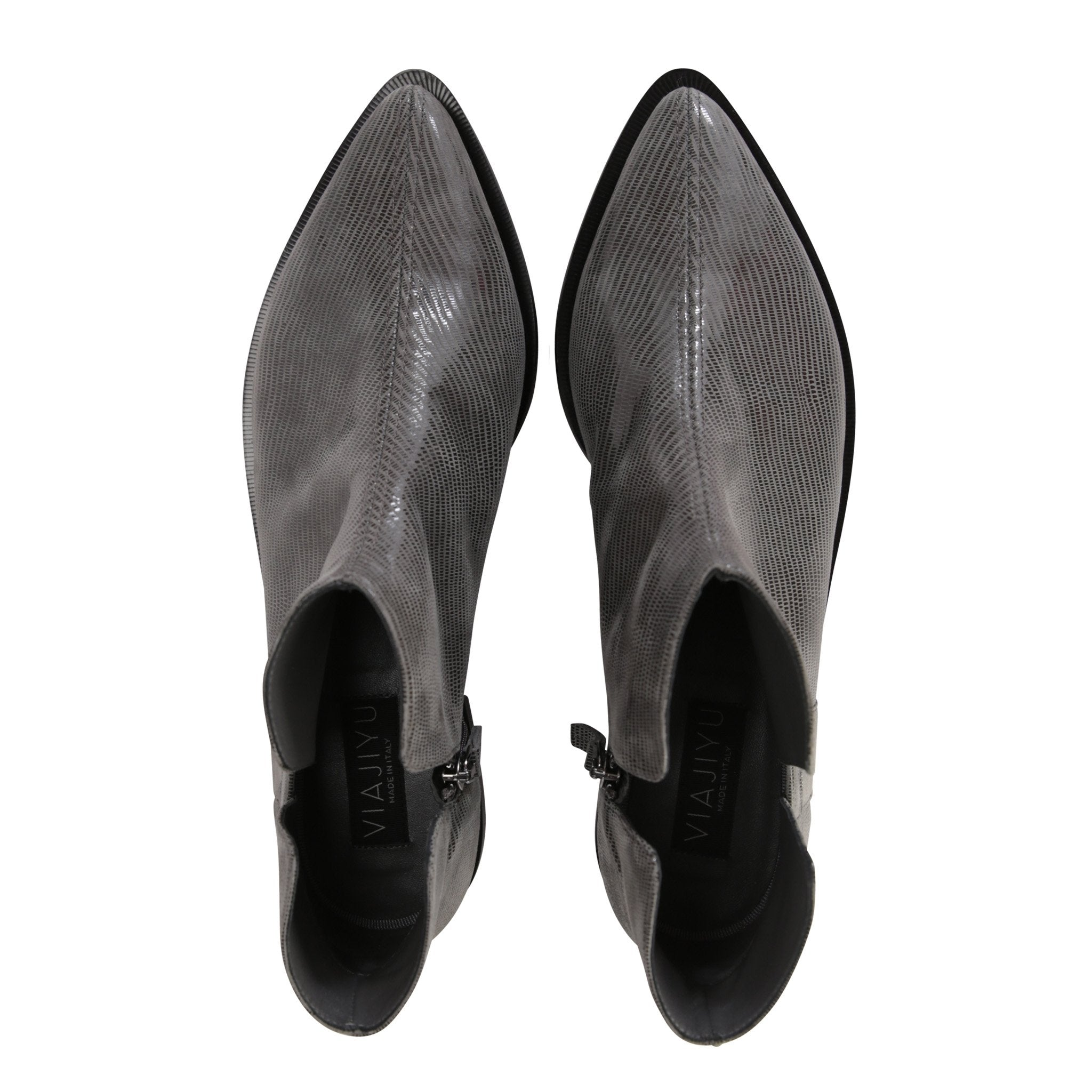 RAVELLO - Varanus Anthracite + Velukid, VIAJIYU - Women's Hand Made Sustainable Luxury Shoes. Made in Italy. Made to Order.