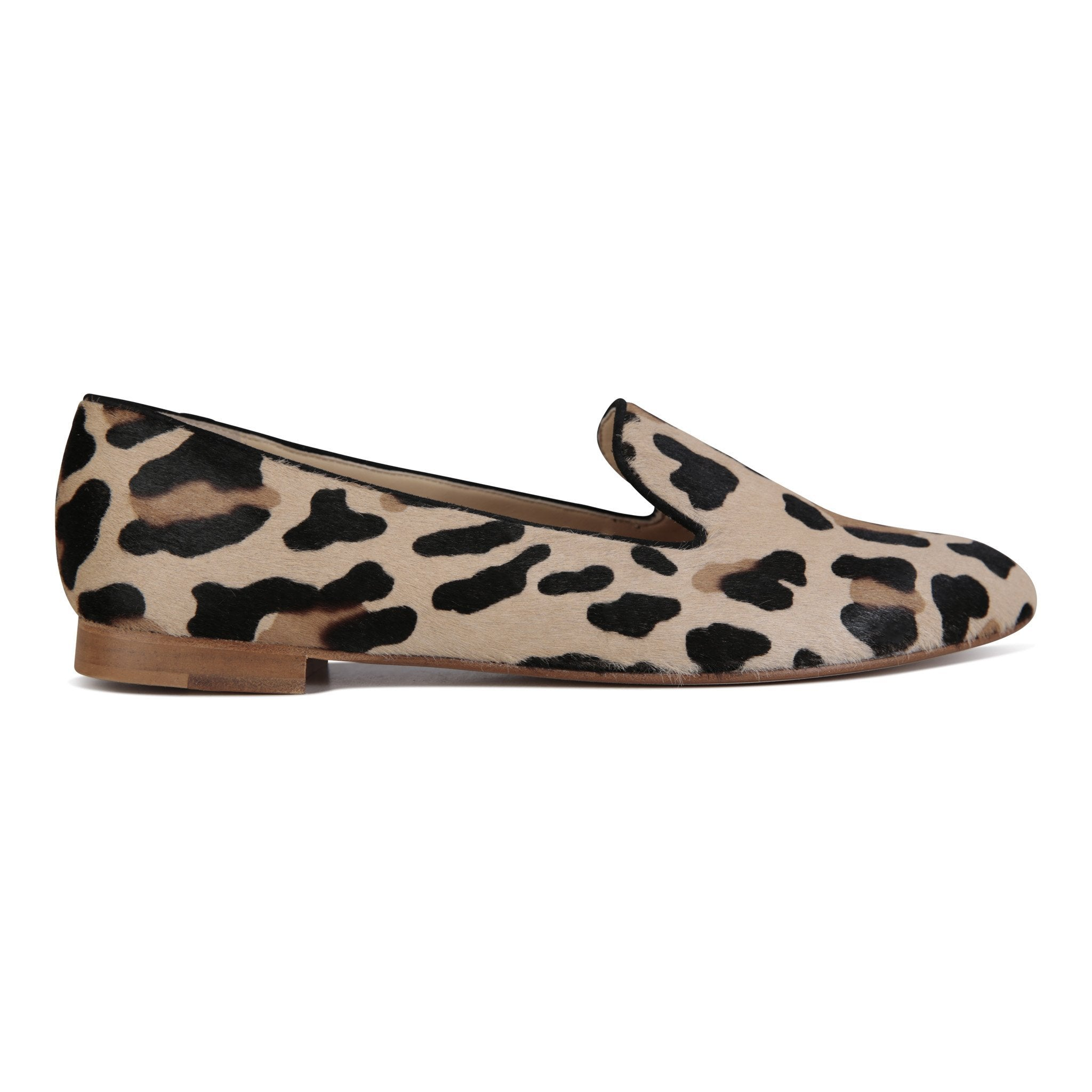 RAVENNA - Calf Hair Leopard + Velukid Nero, VIAJIYU - Women's Hand Made Sustainable Luxury Shoes. Made in Italy. Made to Order.