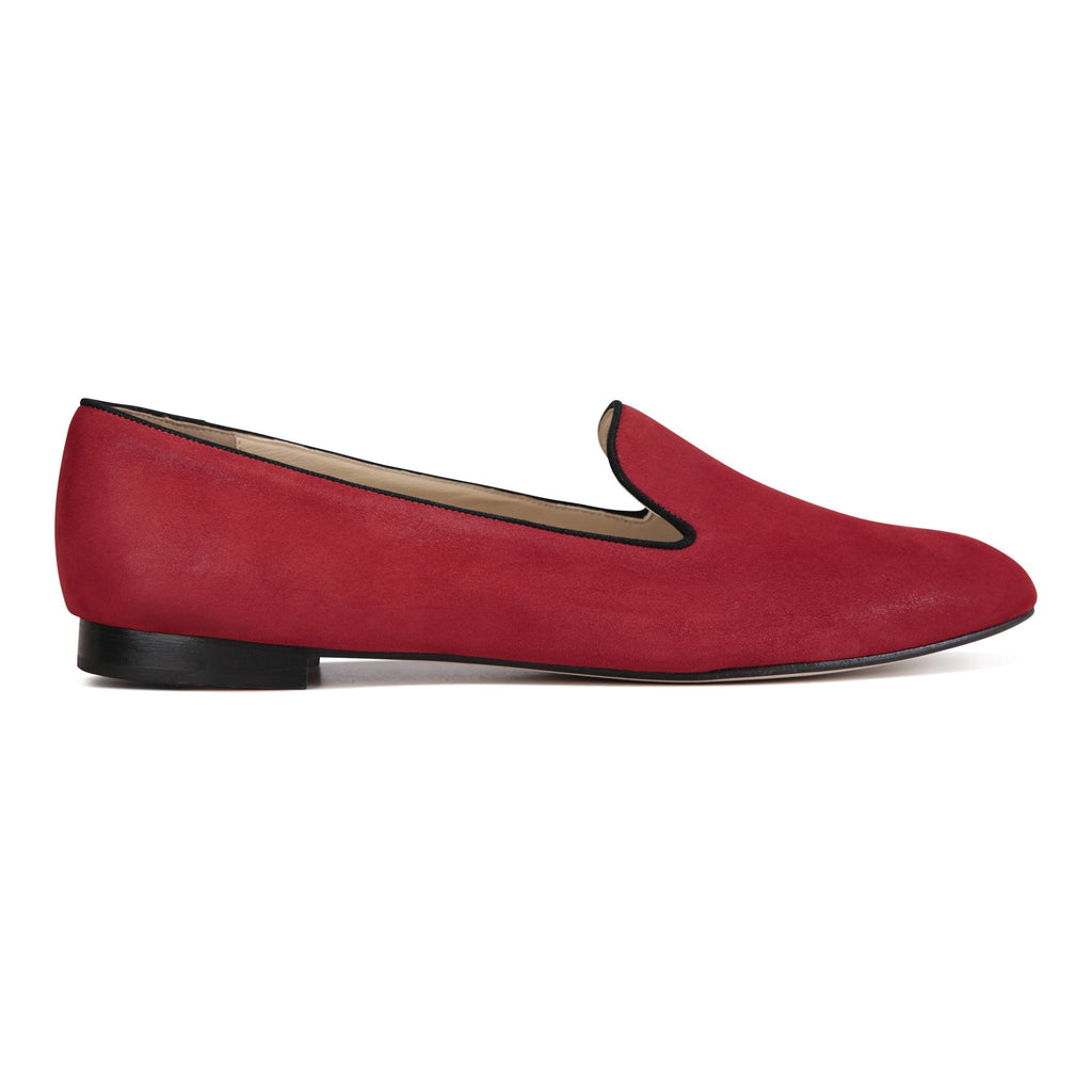 RAVENNA - Hydra Rosso + Nero, VIAJIYU - Women's Hand Made Sustainable Luxury Shoes. Made in Italy. Made to Order.