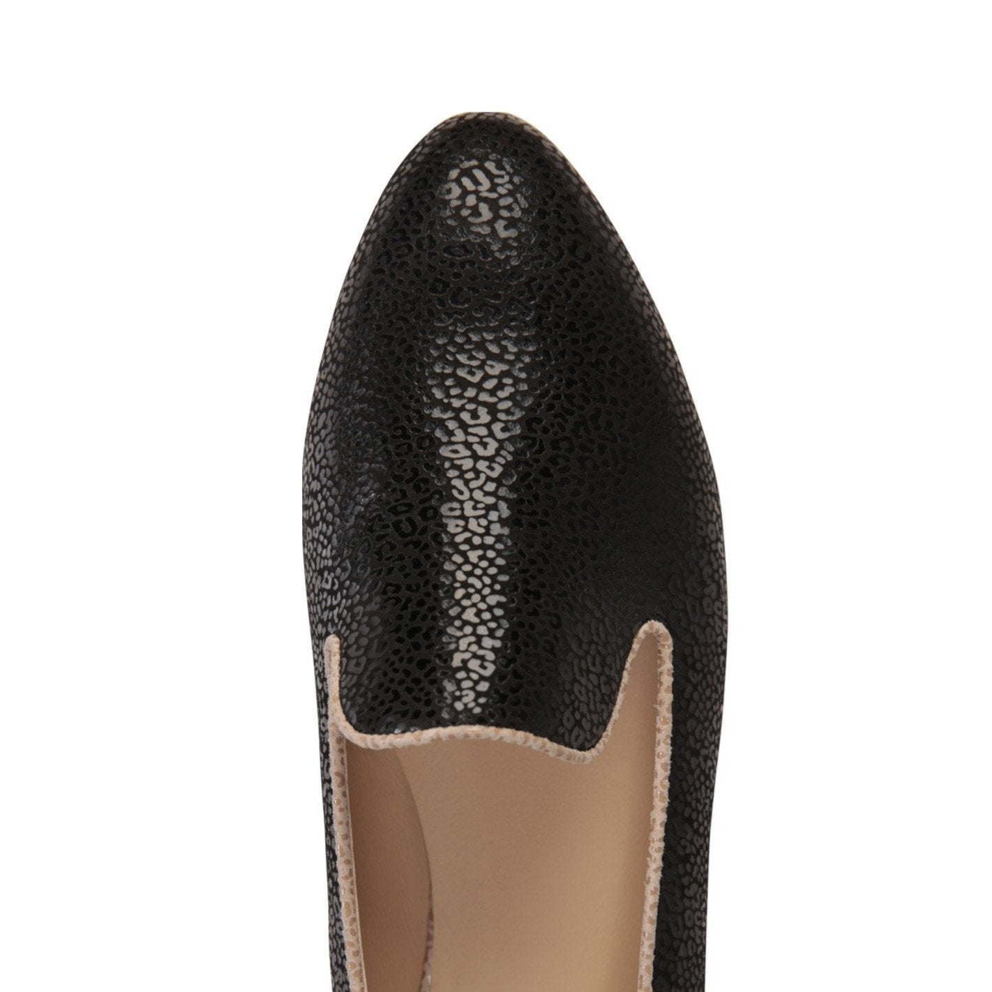 RAVENNA - Savannah Nero + Tan, VIAJIYU - Women's Hand Made Sustainable Luxury Shoes. Made in Italy. Made to Order.
