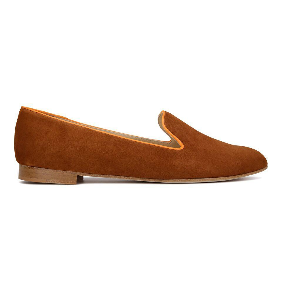 RAVENNA - Velukid Dune + Mandarin, VIAJIYU - Women's Hand Made Sustainable Luxury Shoes. Made in Italy. Made to Order.
