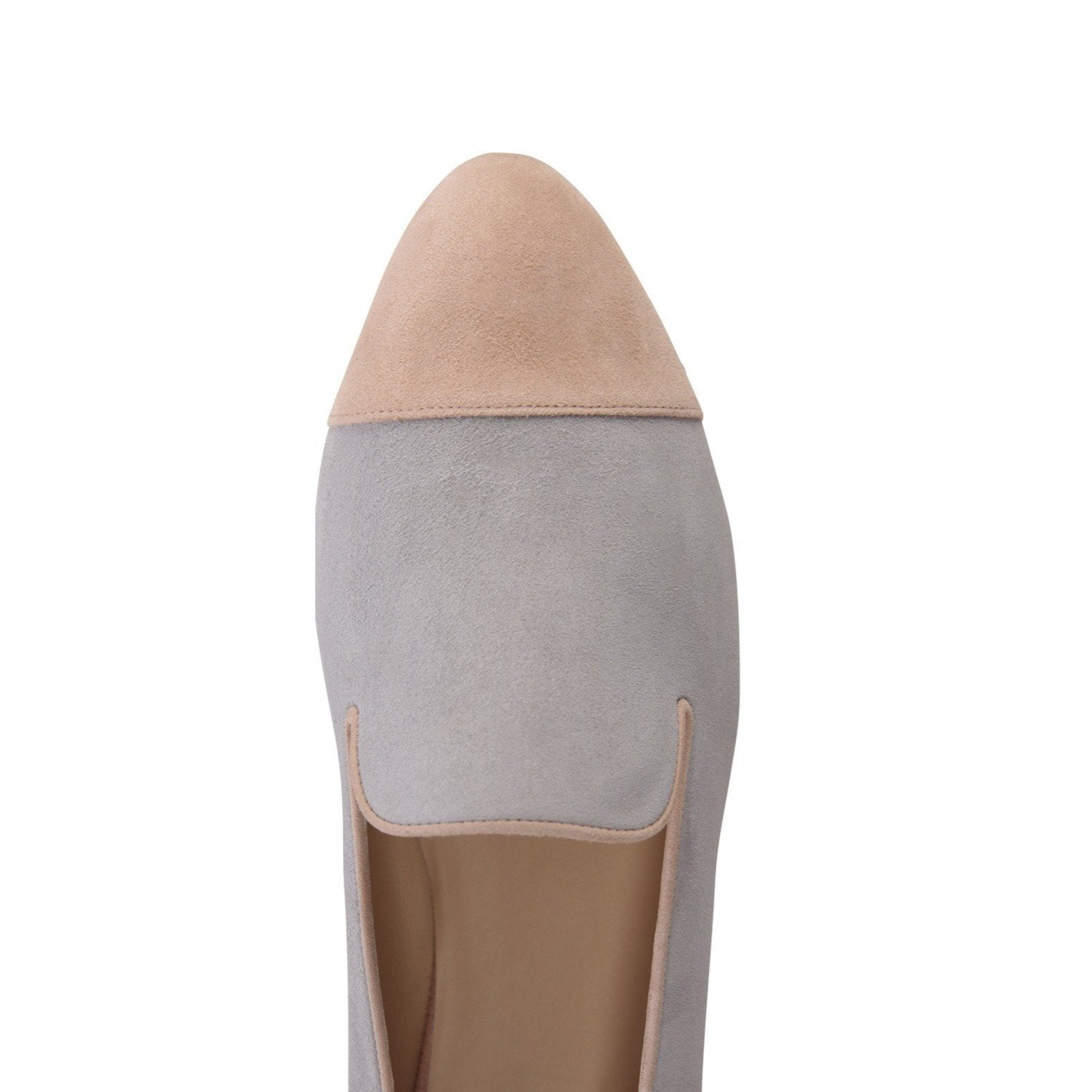 RAVENNA - Velukid Grigio + Sand, VIAJIYU - Women's Hand Made Sustainable Luxury Shoes. Made in Italy. Made to Order.