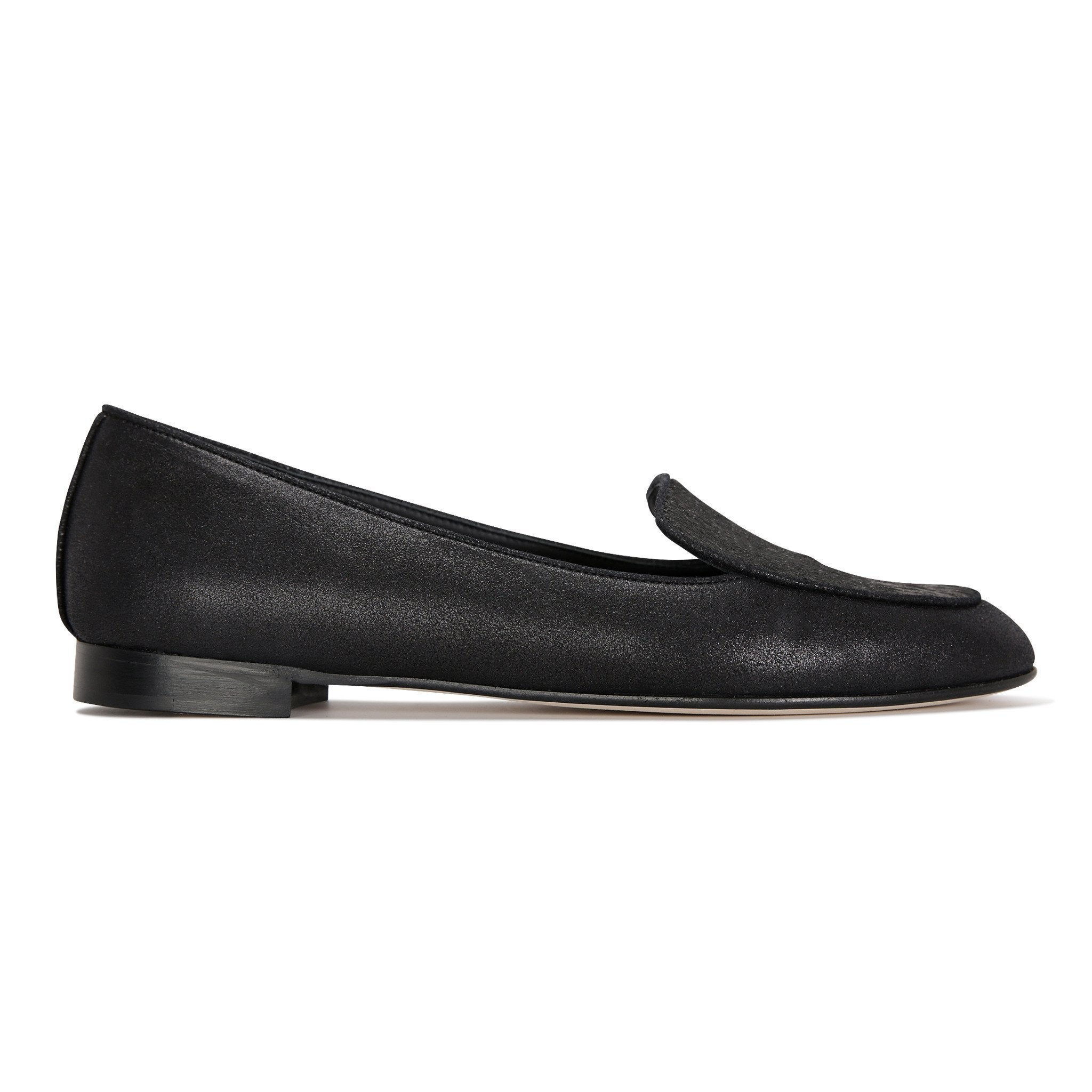 REGGIO - Burma Nero + Calf Hair Vintage, VIAJIYU - Women's Hand Made Sustainable Luxury Shoes. Made in Italy. Made to Order.
