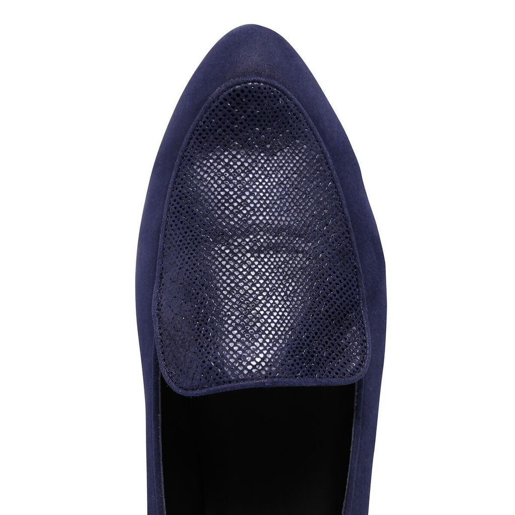 REGGIO - Hydra Midnight + Karung, VIAJIYU - Women's Hand Made Sustainable Luxury Shoes. Made in Italy. Made to Order.