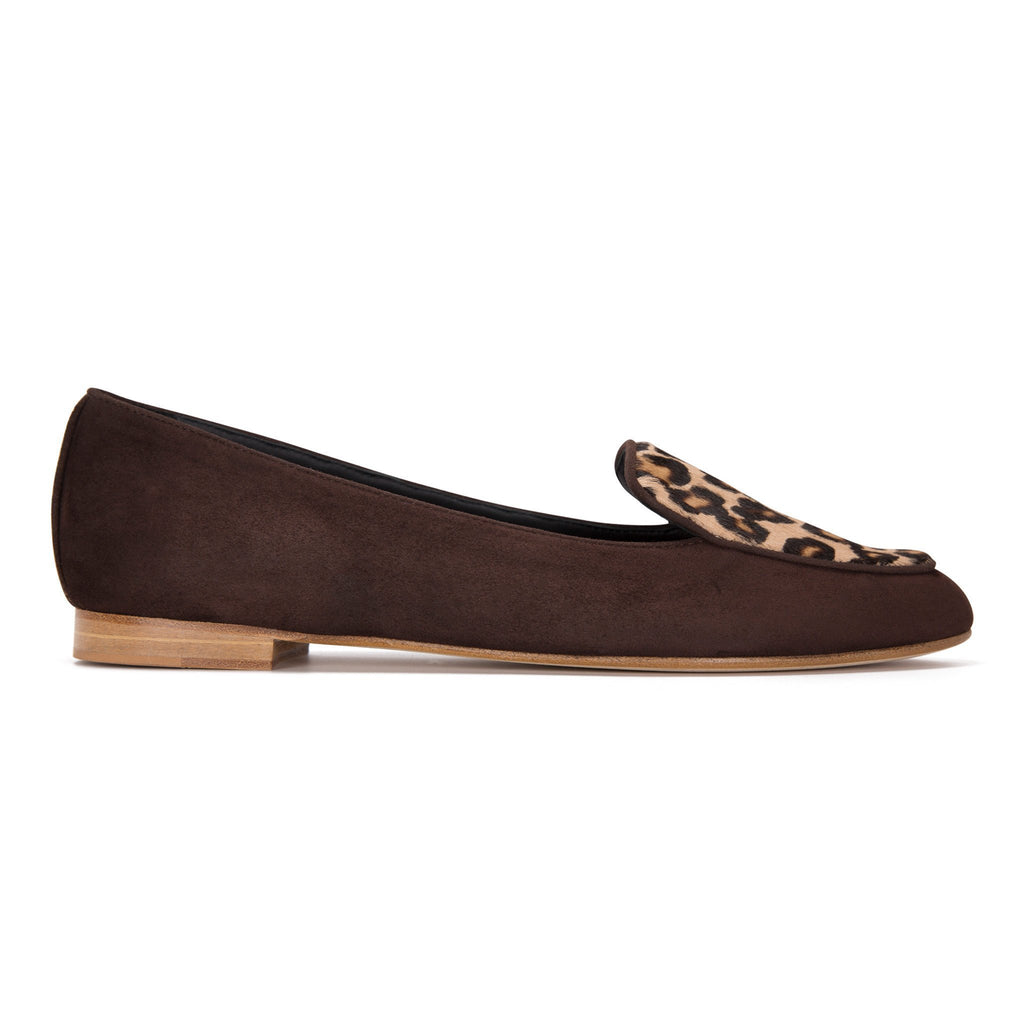REGGIO - Velukid Espresso + Calf Hair Congo, VIAJIYU - Women's Hand Made Sustainable Luxury Shoes. Made in Italy. Made to Order.