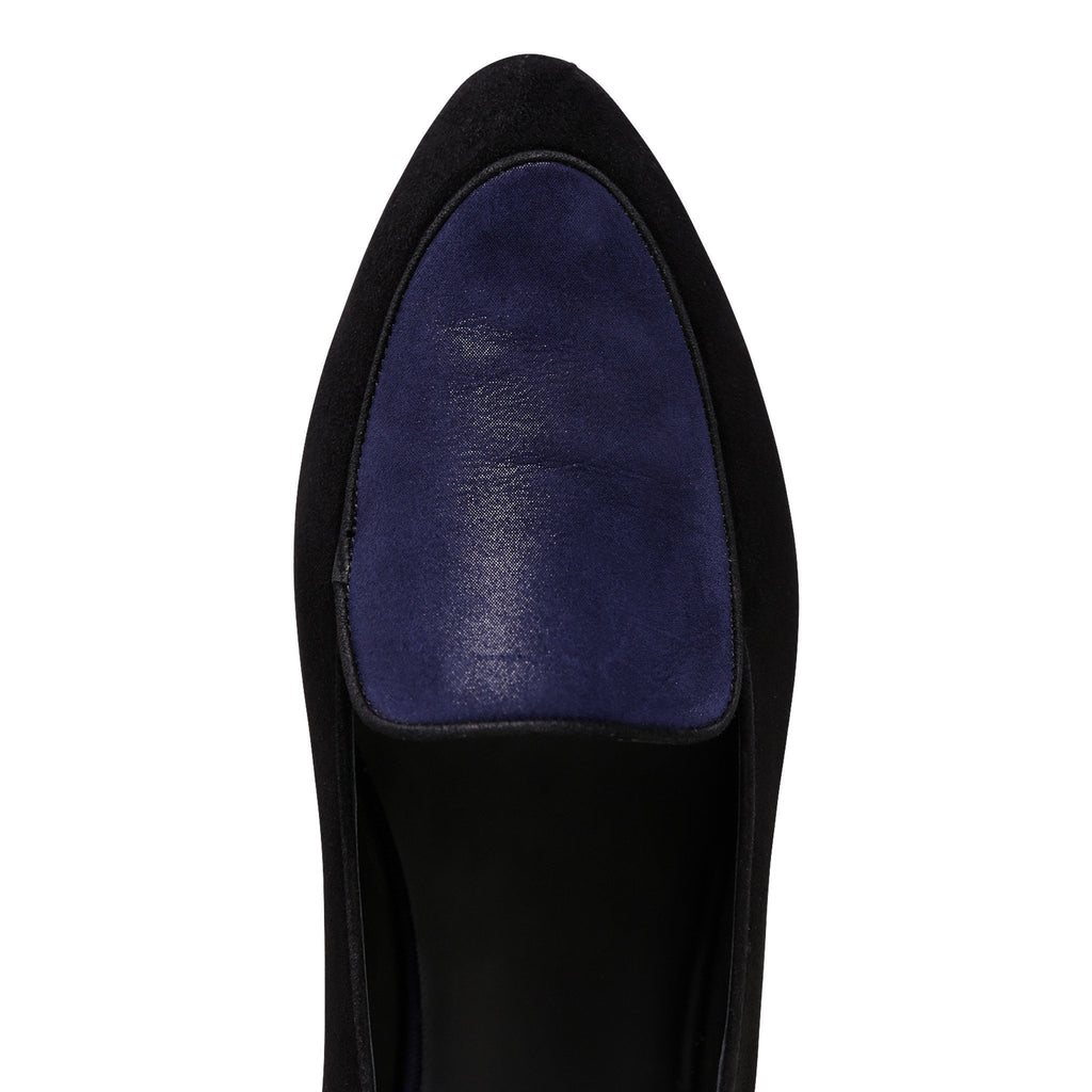 REGGIO - Velukid Nero + Hydra Midnight, VIAJIYU - Women's Hand Made Sustainable Luxury Shoes. Made in Italy. Made to Order.