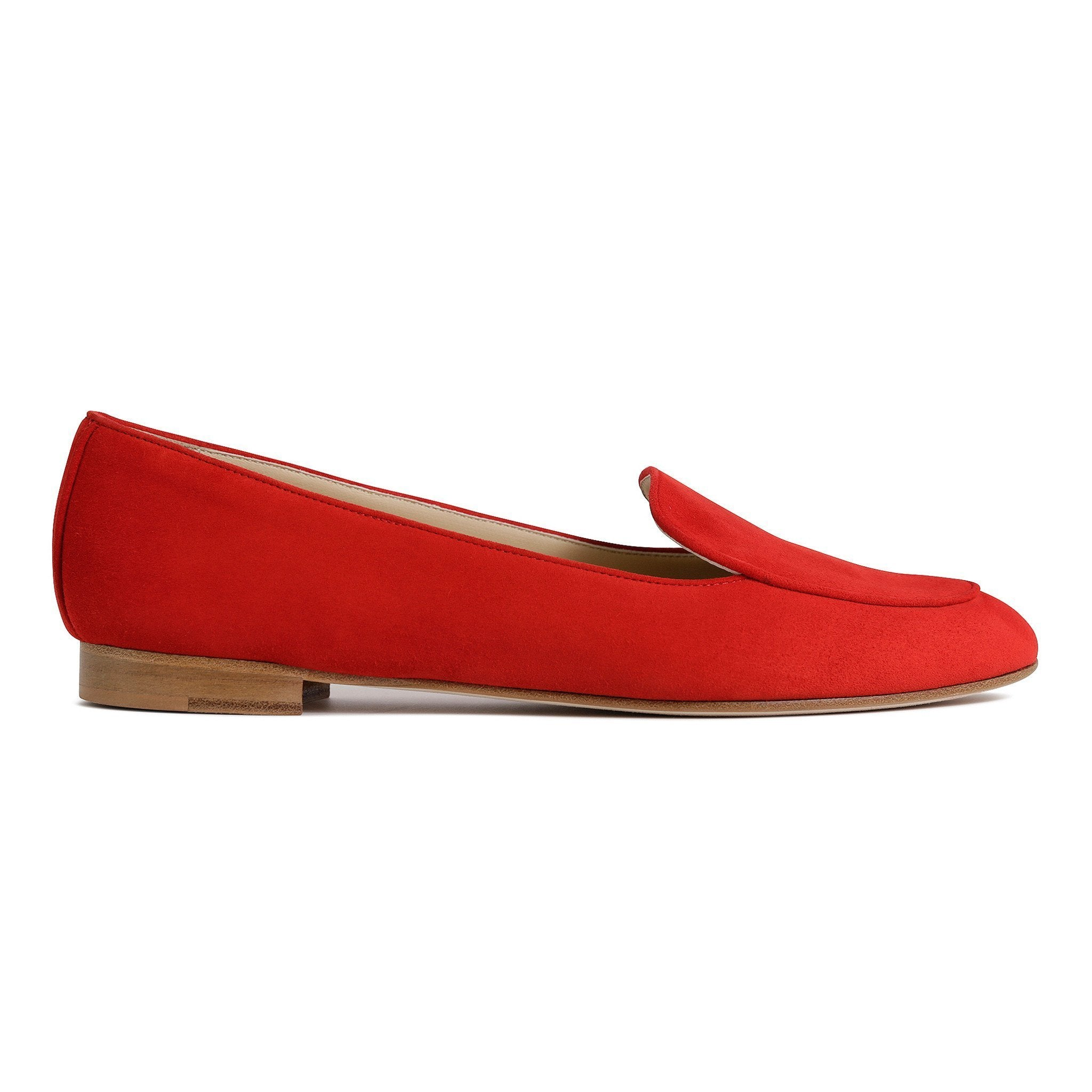 REGGIO - Velukid Rosso, VIAJIYU - Women's Hand Made Sustainable Luxury Shoes. Made in Italy. Made to Order.