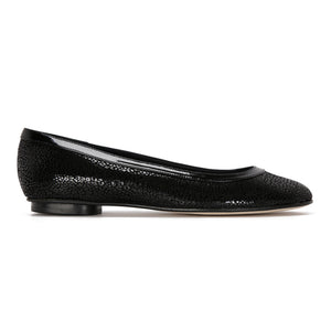 ROMA - Savannah Nero + Patent Trim, VIAJIYU - Women's Hand Made Sustainable Luxury Shoes. Made in Italy. Made to Order.