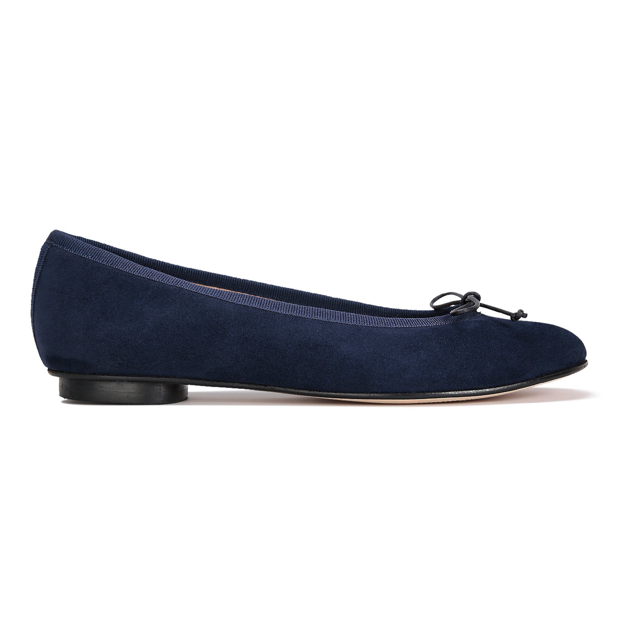 ROMA - Velukid Midnight + Drawstring Navy Bow, VIAJIYU - Women's Hand Made Sustainable Luxury Shoes. Made in Italy. Made to Order.