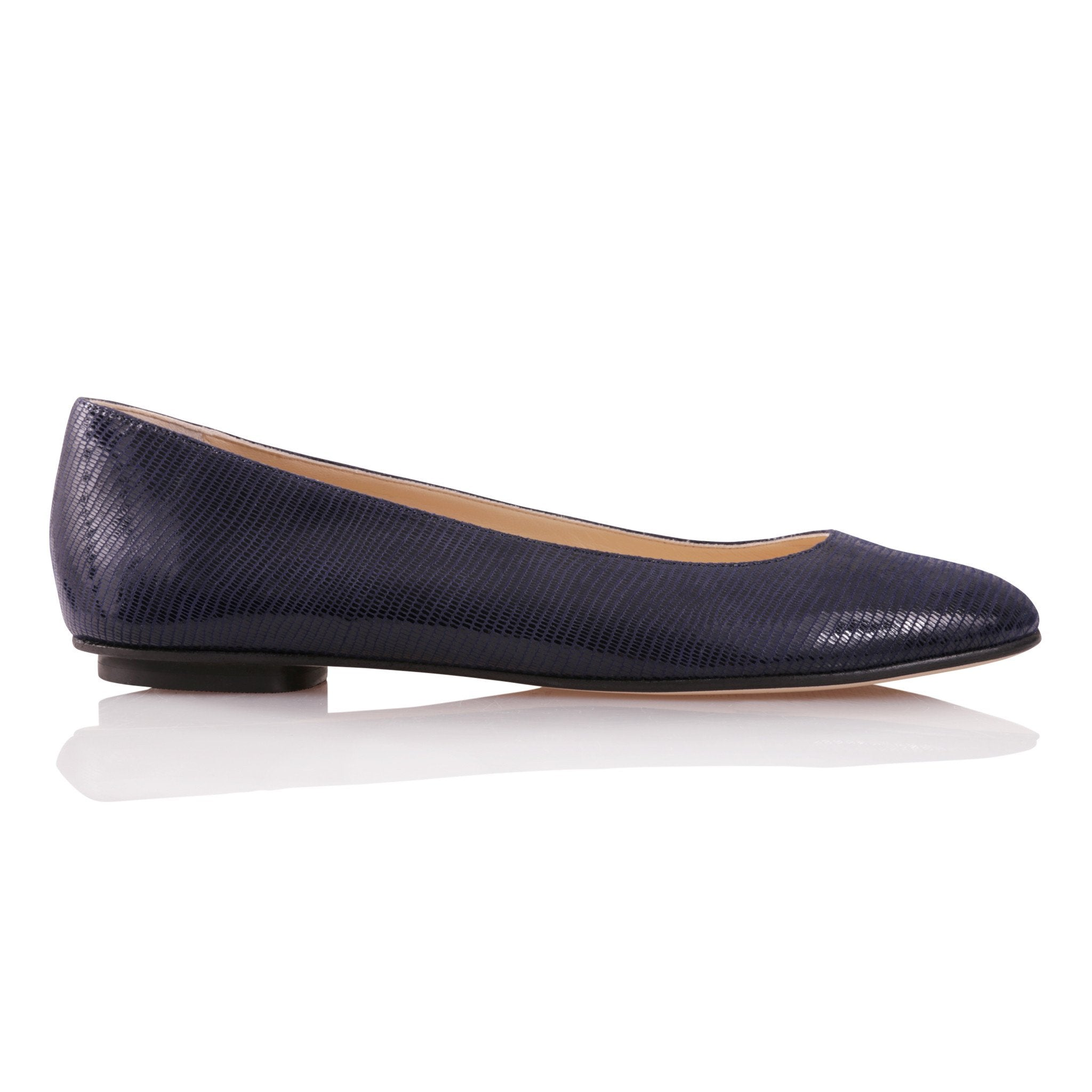 ROMA - Varanus Midnight, VIAJIYU - Women's Hand Made Sustainable Luxury Shoes. Made in Italy. Made to Order.