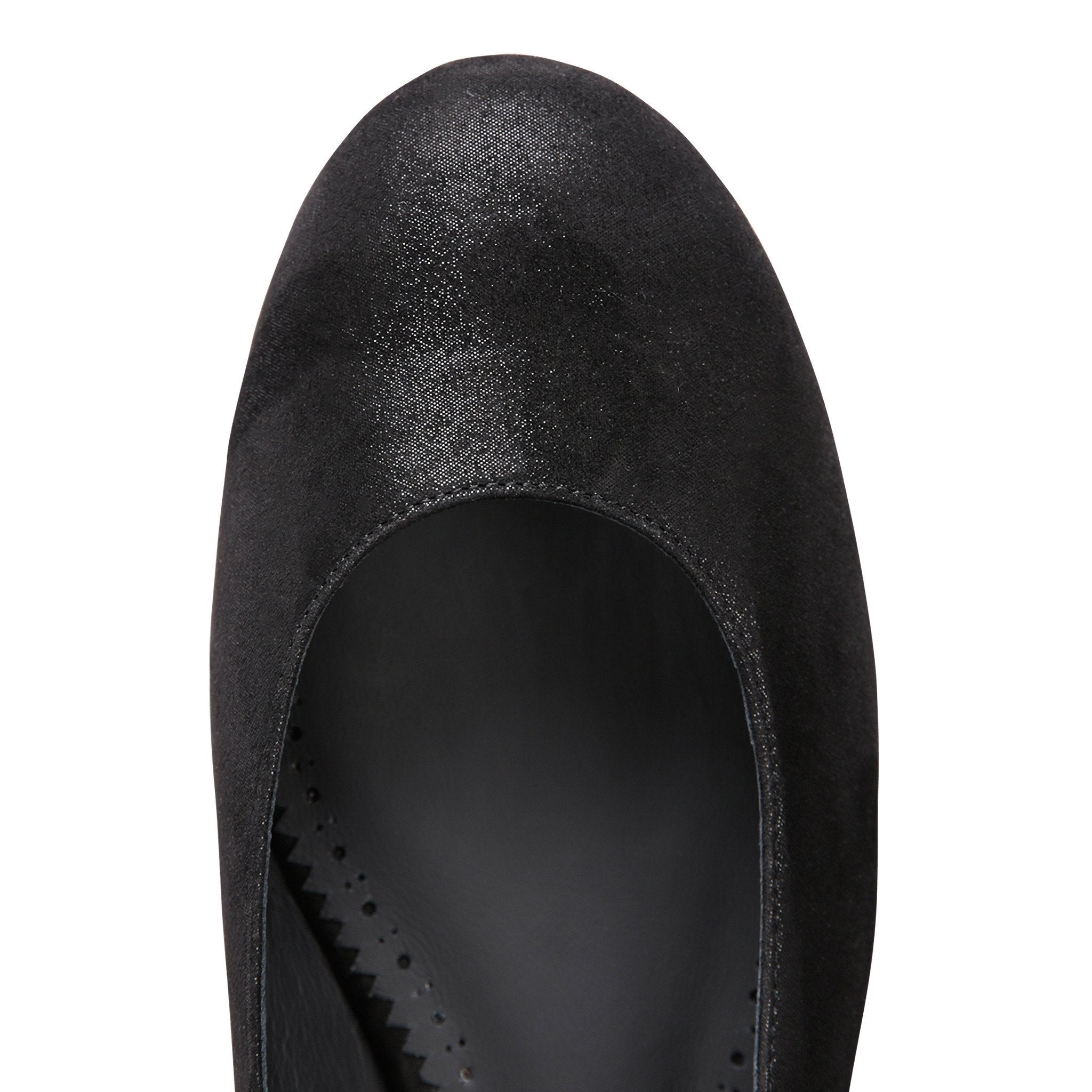 ROMA - Hydra Nero + Patent Back, VIAJIYU - Women's Hand Made Sustainable Luxury Shoes. Made in Italy. Made to Order.