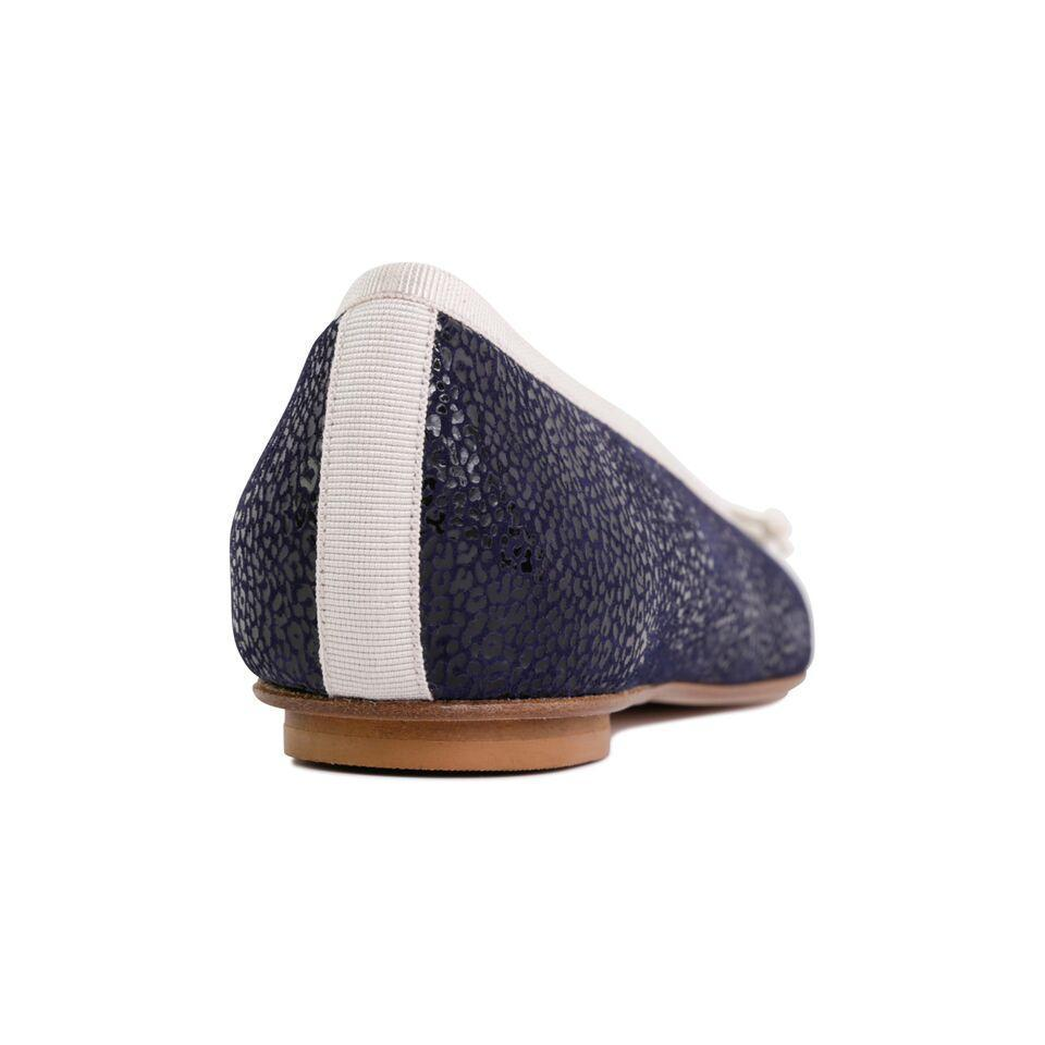 ROMA - Savannah Midnight + Drawstring Panna Bow, VIAJIYU - Women's Hand Made Sustainable Luxury Shoes. Made in Italy. Made to Order.