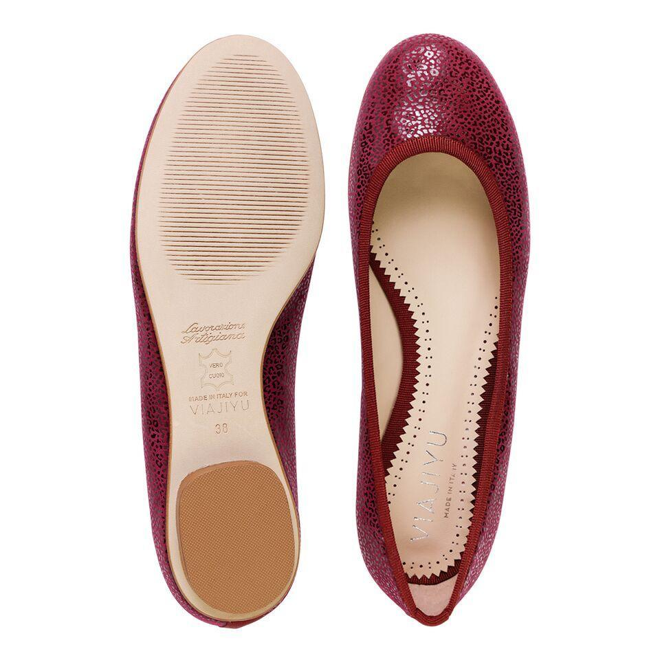 ROMA - Savannah Bordeaux + Grosgrain, VIAJIYU - Women's Hand Made Sustainable Luxury Shoes. Made in Italy. Made to Order.