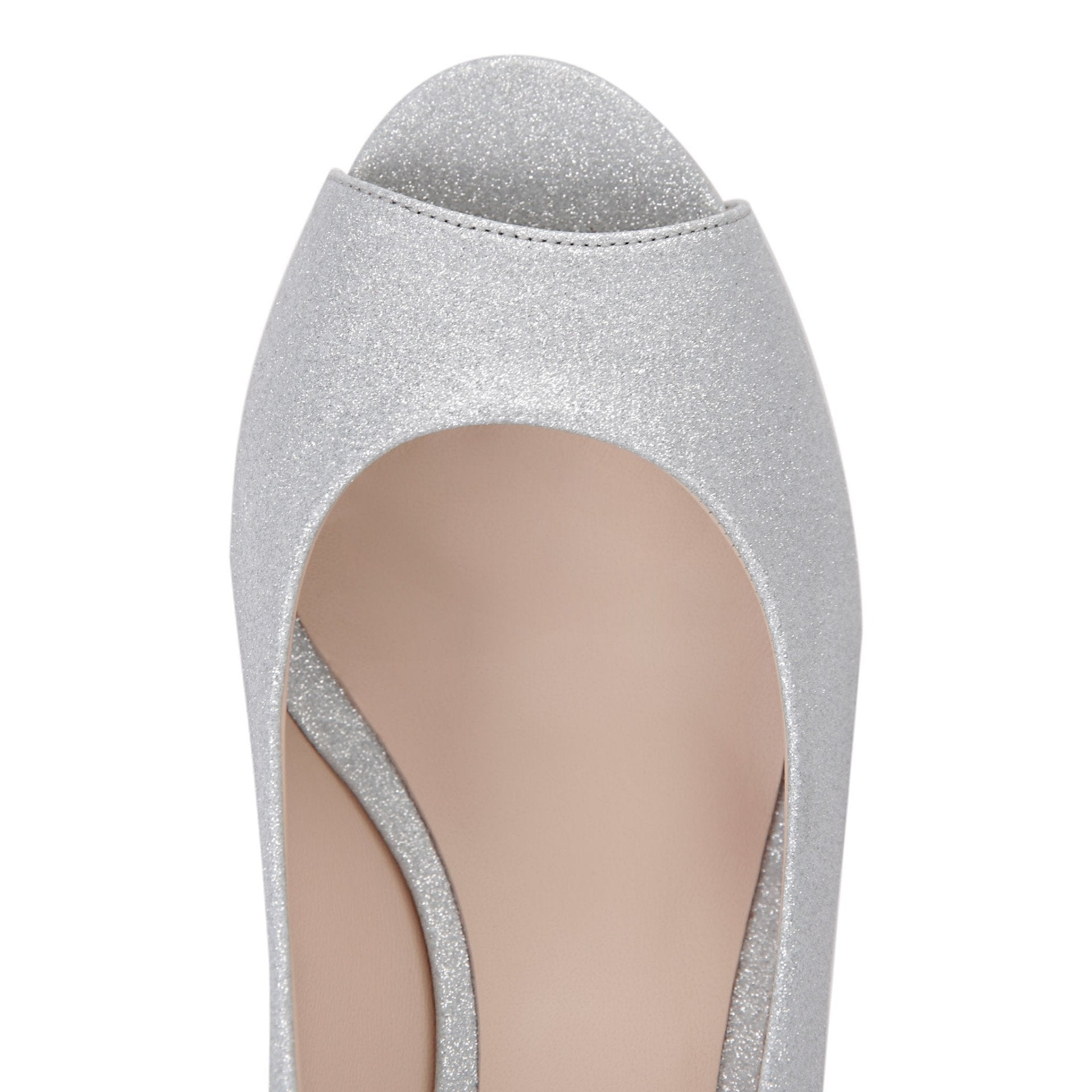 SARDINIA - Bright Argento, VIAJIYU - Women's Hand Made Sustainable Luxury Shoes. Made in Italy. Made to Order.