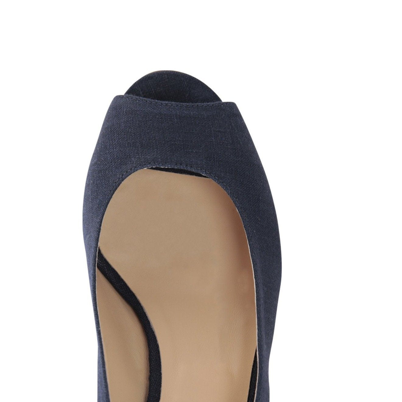 SARDINIA - Textile Canvas Midnight, VIAJIYU - Women's Hand Made Sustainable Luxury Shoes. Made in Italy. Made to Order.
