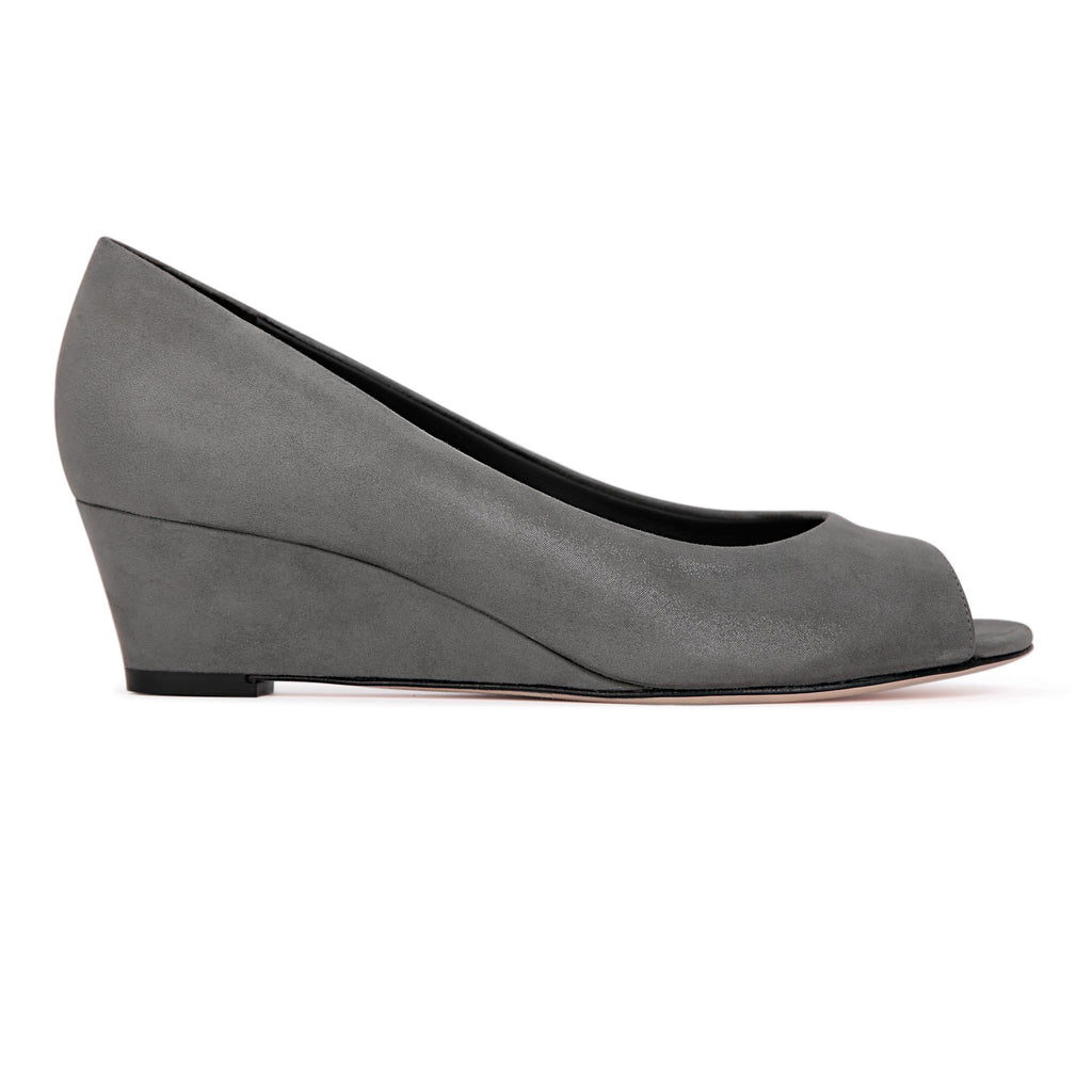 SARDINIA - Hydra Anthracite, VIAJIYU - Women's Hand Made Sustainable Luxury Shoes. Made in Italy. Made to Order.