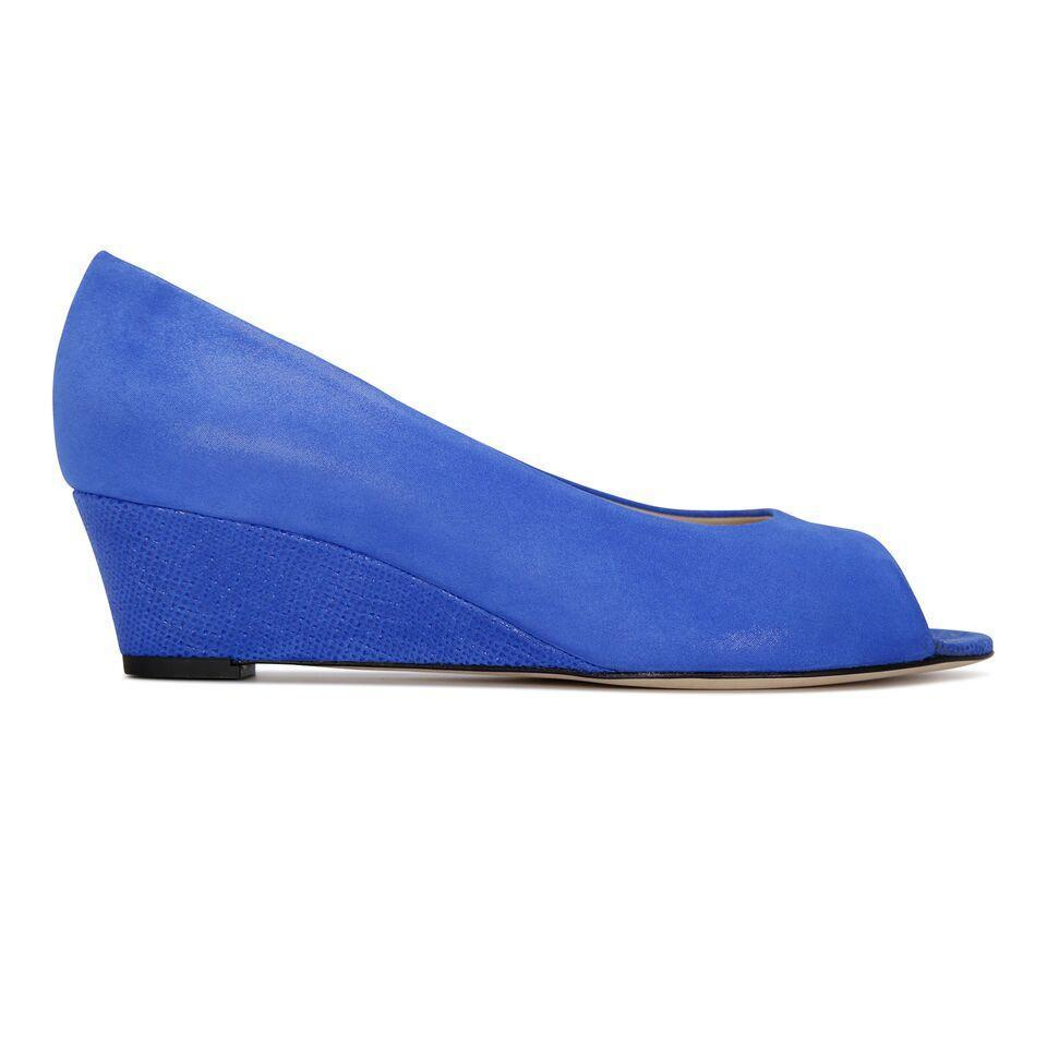 SARDINIA - Hydra Cobalt + Karung, VIAJIYU - Women's Hand Made Sustainable Luxury Shoes. Made in Italy. Made to Order.