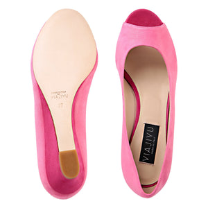 SARDINIA - Hydra Epiphany Pink + Hydra Rosso, VIAJIYU - Women's Hand Made Sustainable Luxury Shoes. Made in Italy. Made to Order.