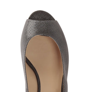SARDINIA - Karung Anthracite, VIAJIYU - Women's Hand Made Sustainable Luxury Shoes. Made in Italy. Made to Order.