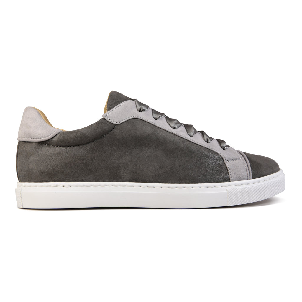 SATURNIA - Hydra Anthracite + Hydra Grigio, VIAJIYU - Women's Hand Made Sustainable Luxury Shoes. Made in Italy. Made to Order.